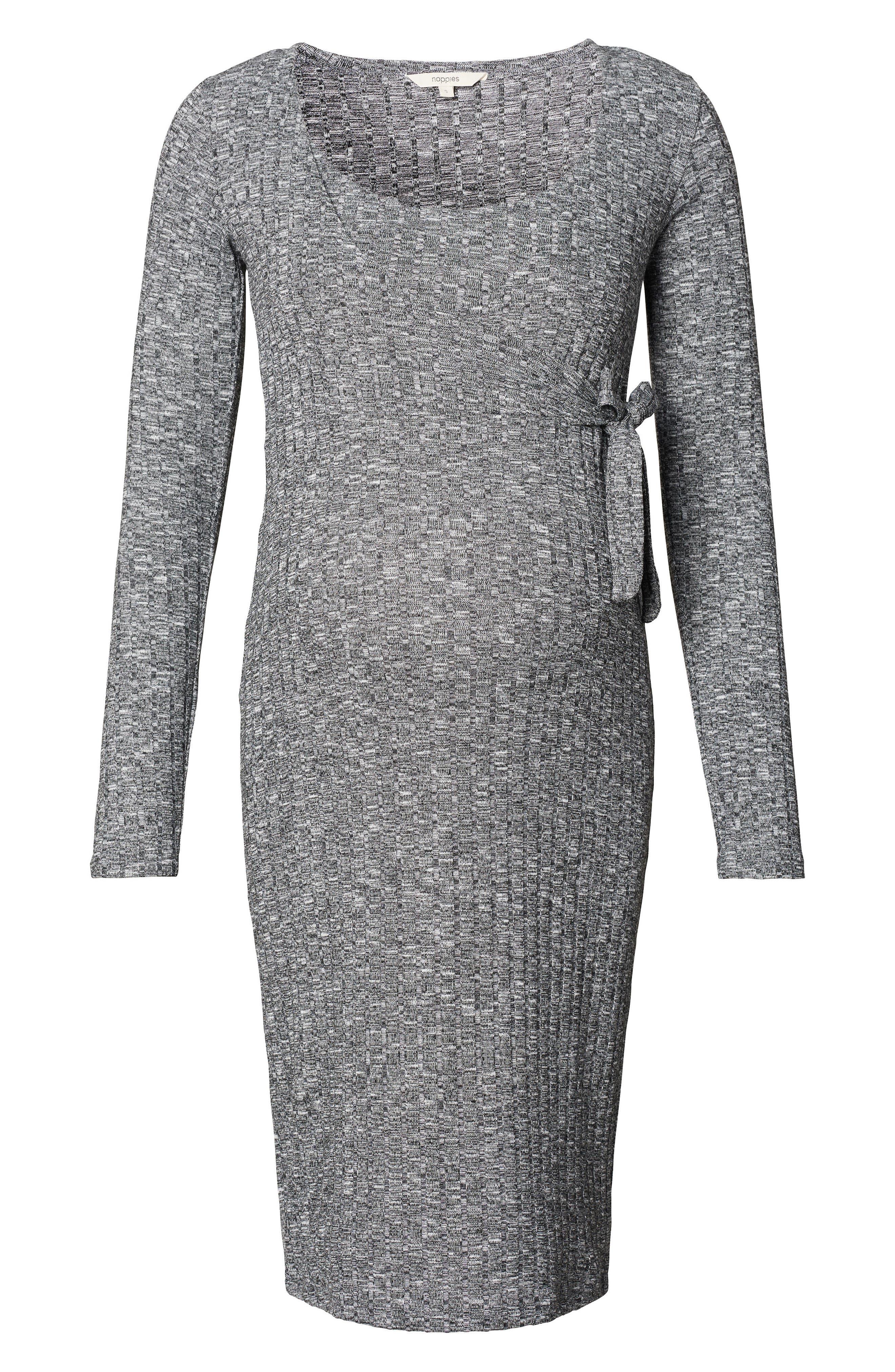 Giulia Maternity Sweater Dress,                             Main thumbnail 1, color,                             Anthracite Melange