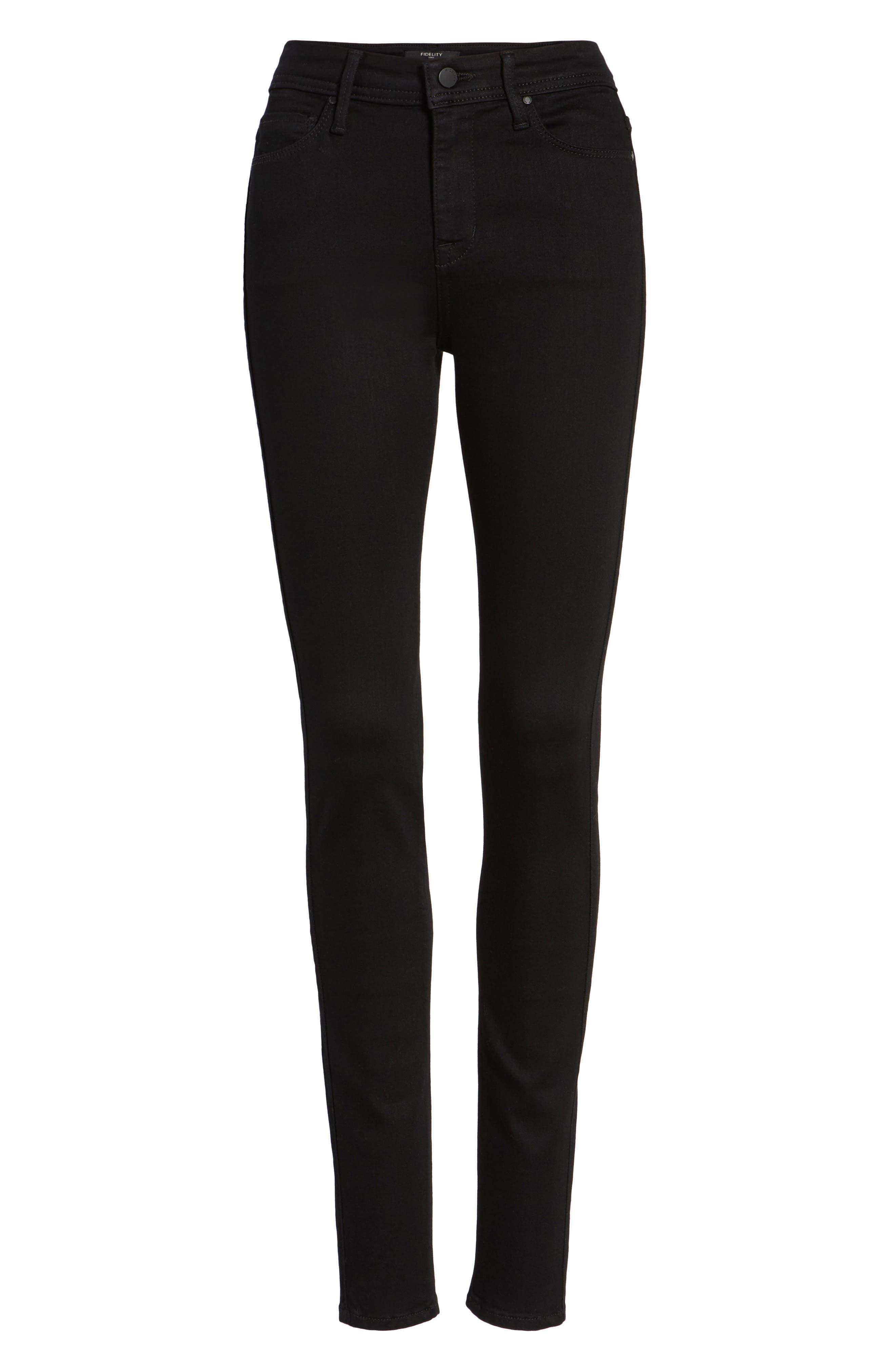 Belvedere Skinny Jeans,                             Alternate thumbnail 6, color,                             Jett Black