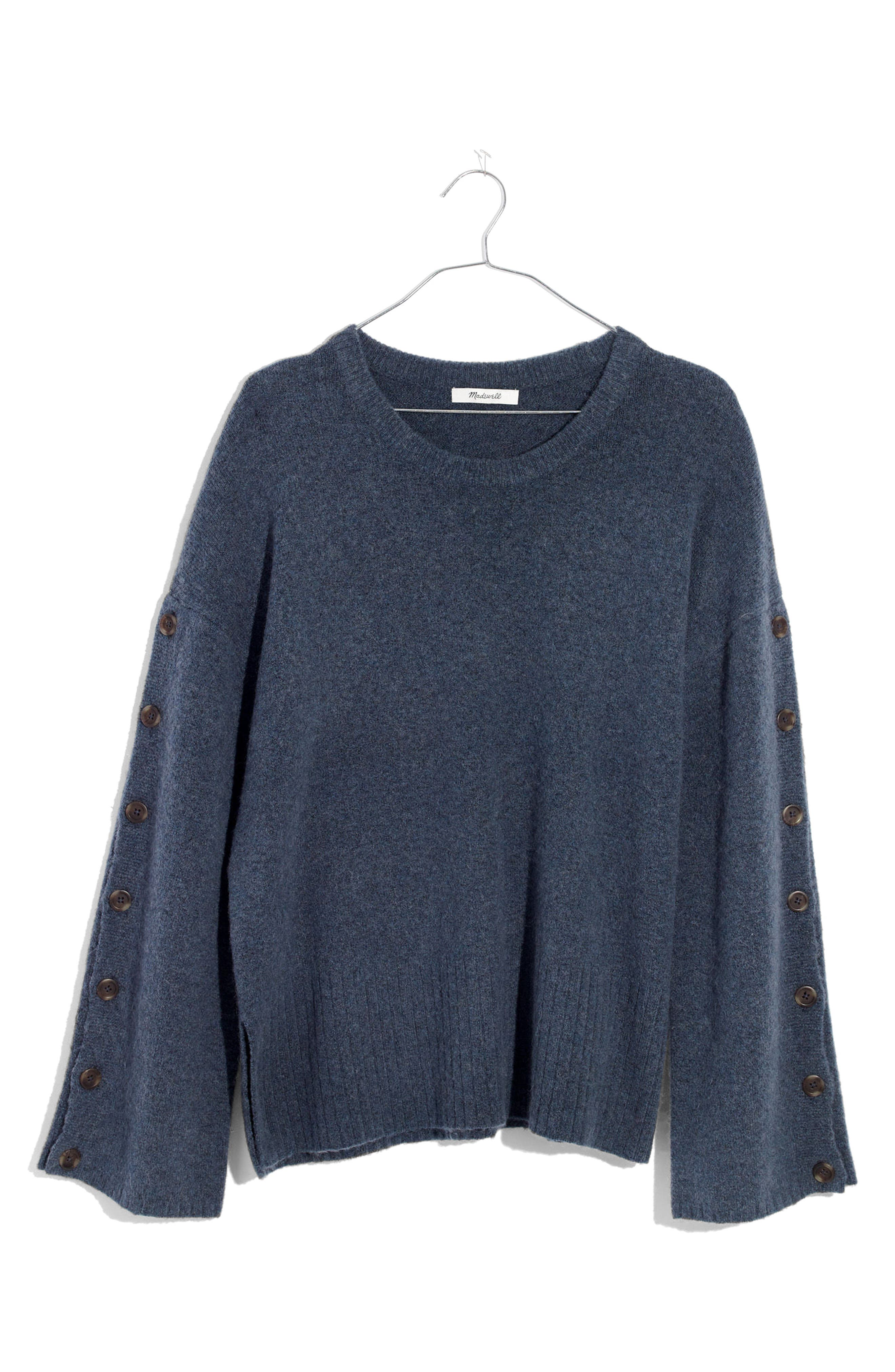 Alternate Image 6  - Madewell Button Sleeve Pullover Sweater