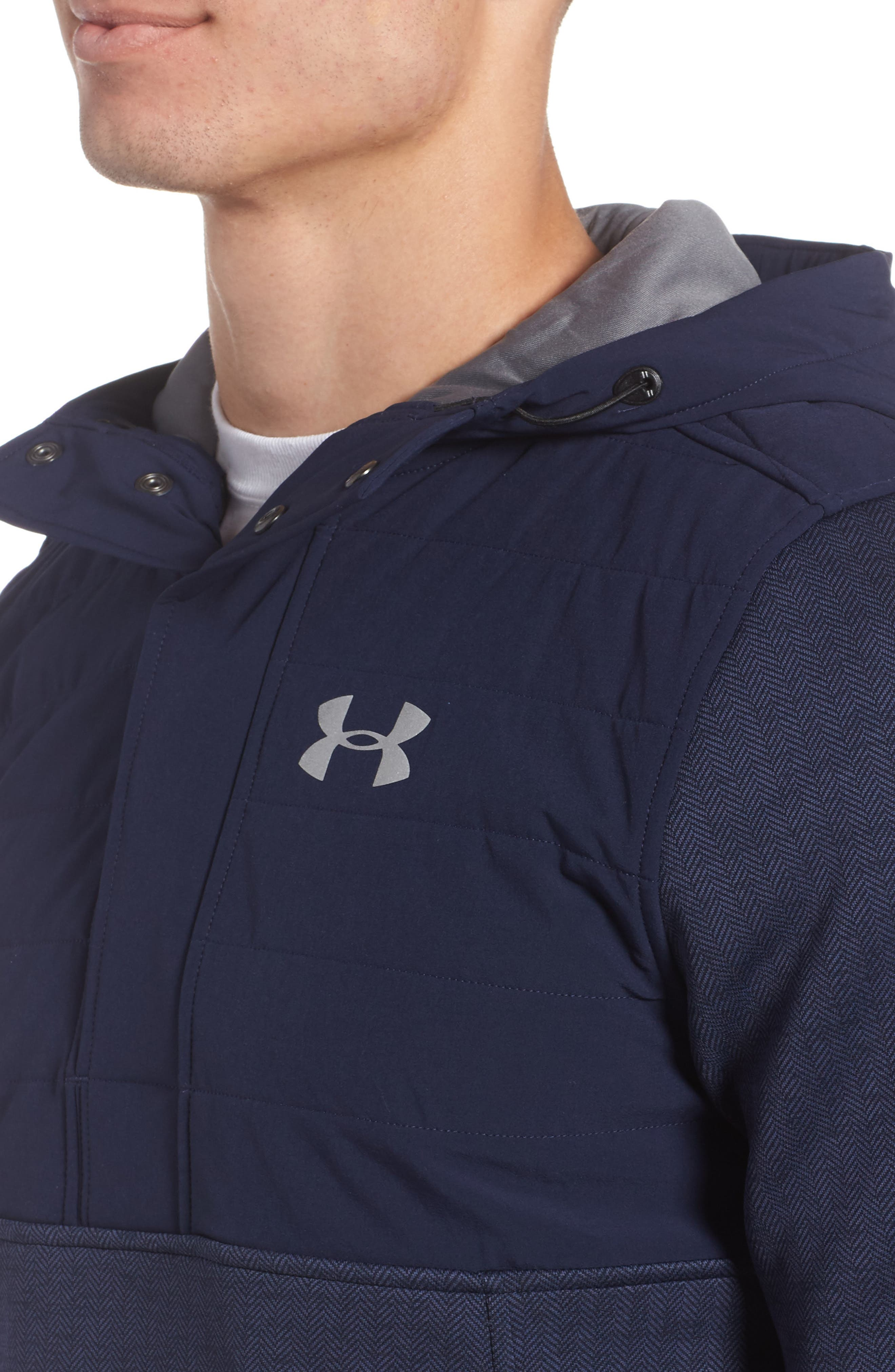Henley Hoodie,                             Alternate thumbnail 4, color,                             Midnight Navy / Reflective