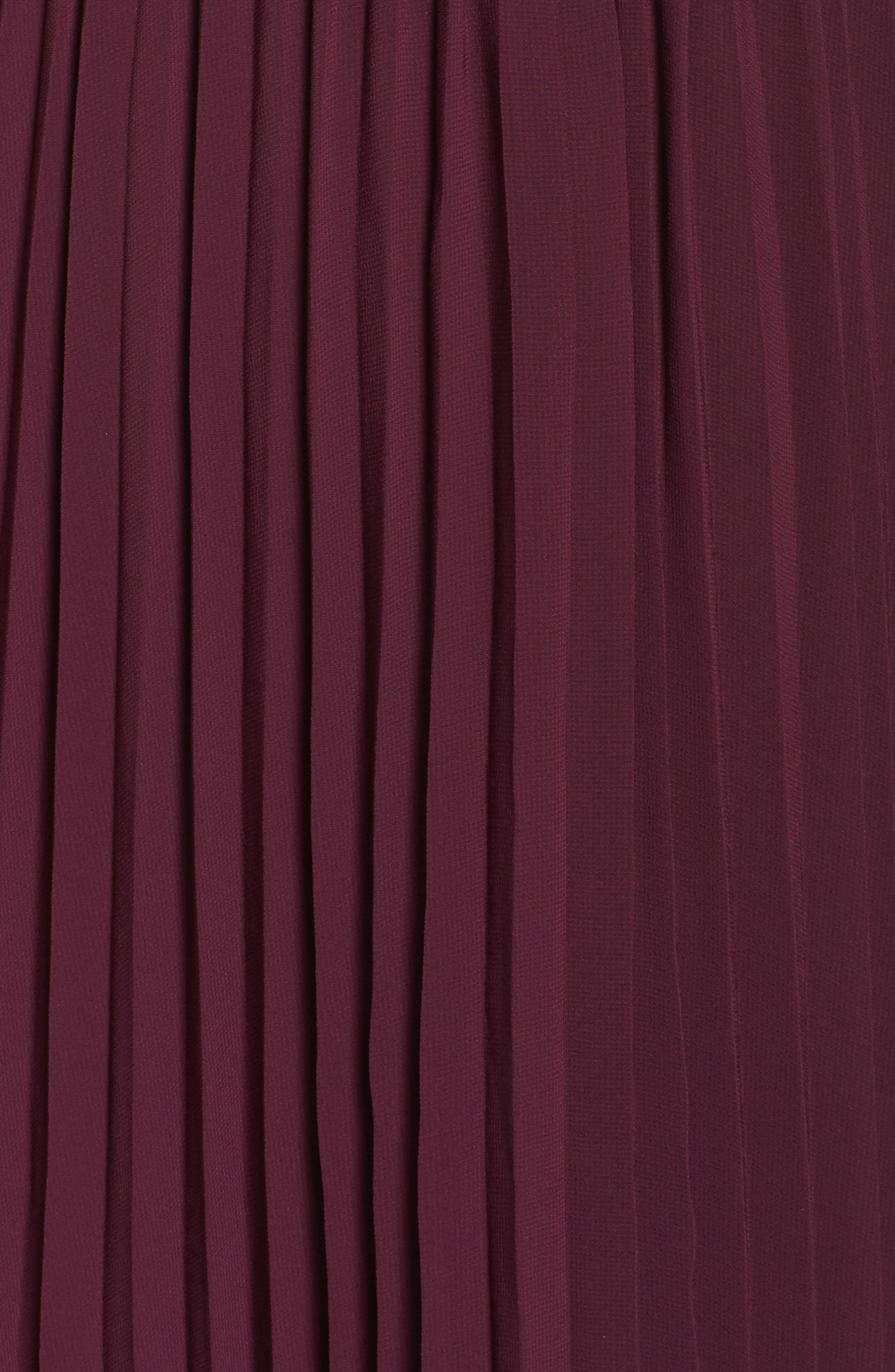 She Is A Regular Pleated Maxi Dress,                             Alternate thumbnail 5, color,                             Wine