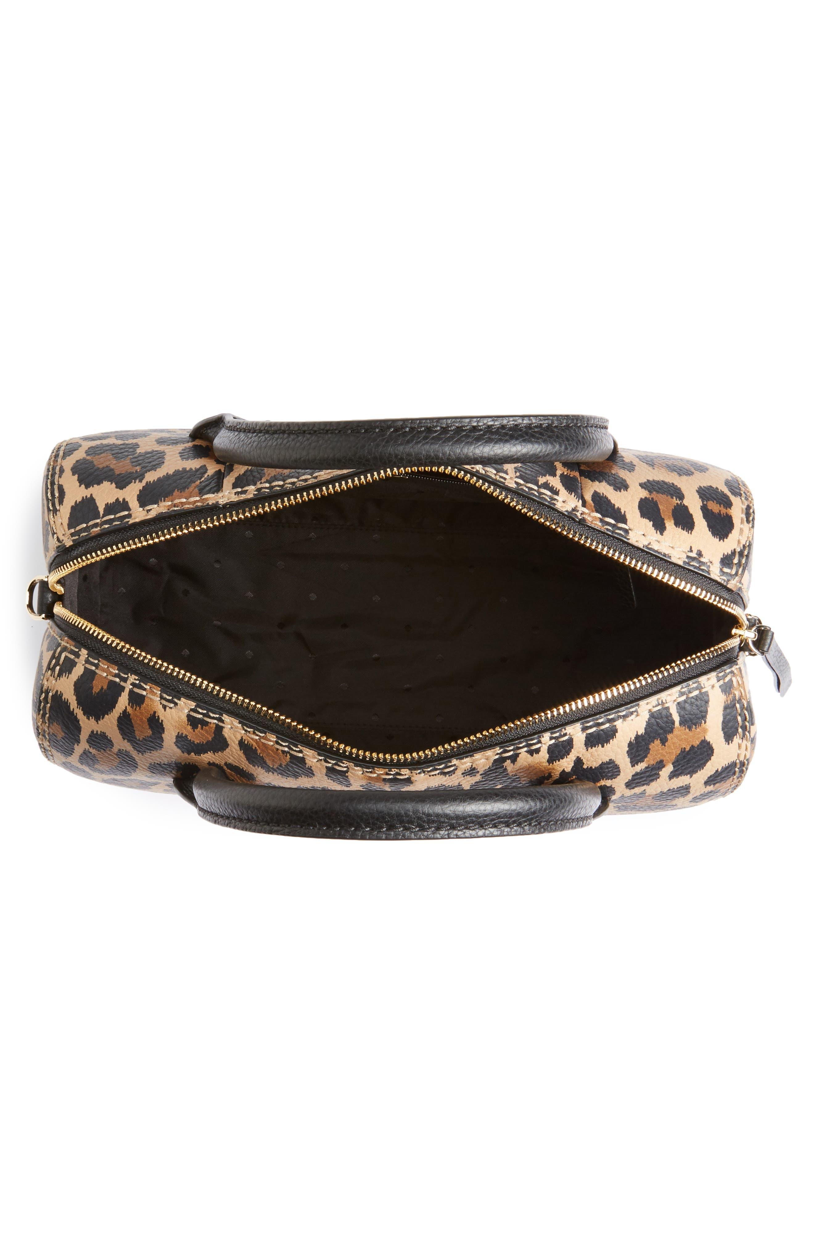 dunne lane mega lake printed leather satchel,                             Alternate thumbnail 3, color,                             Leopard
