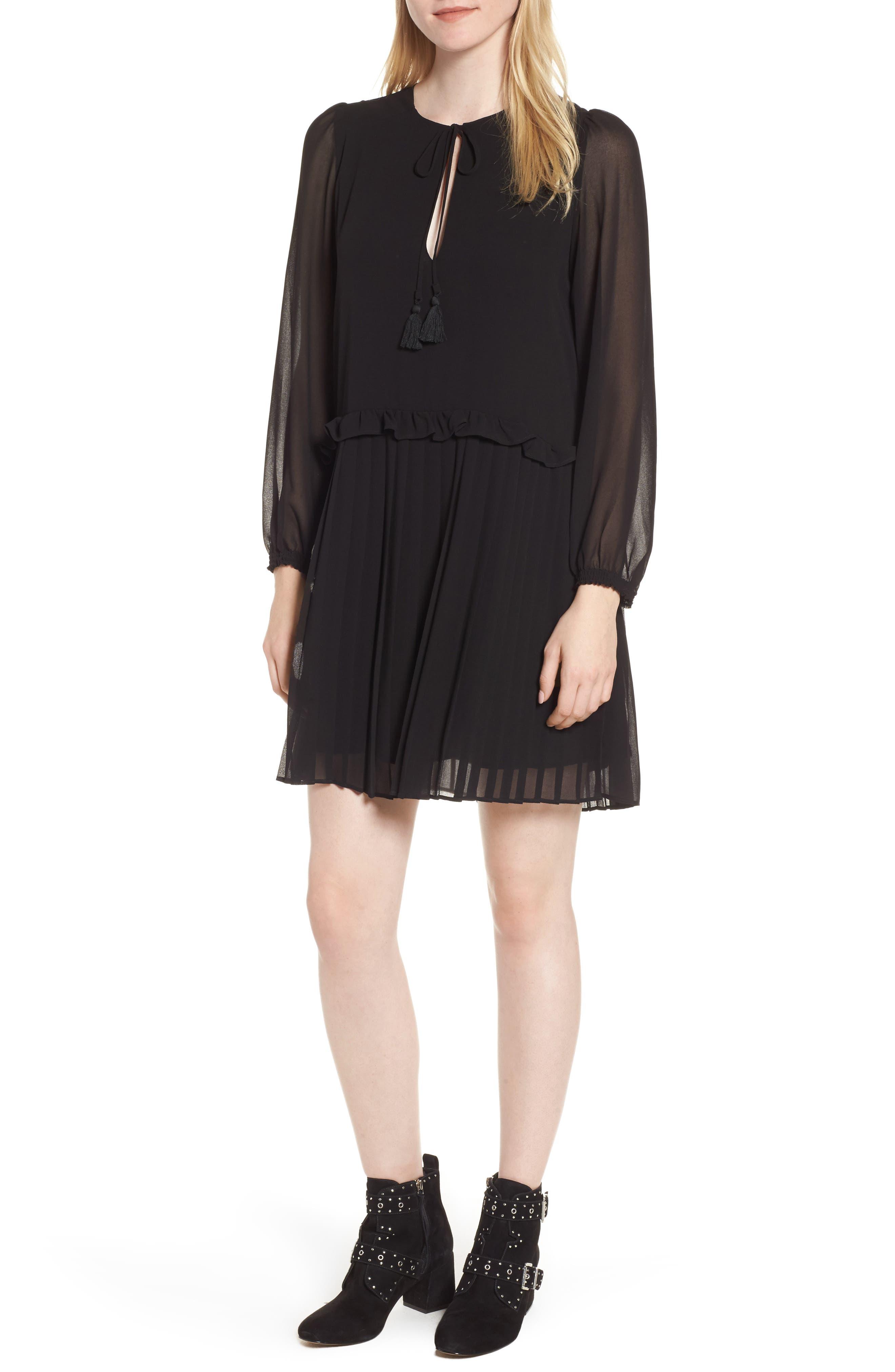 Morrison Shift Dress,                             Main thumbnail 1, color,                             Black