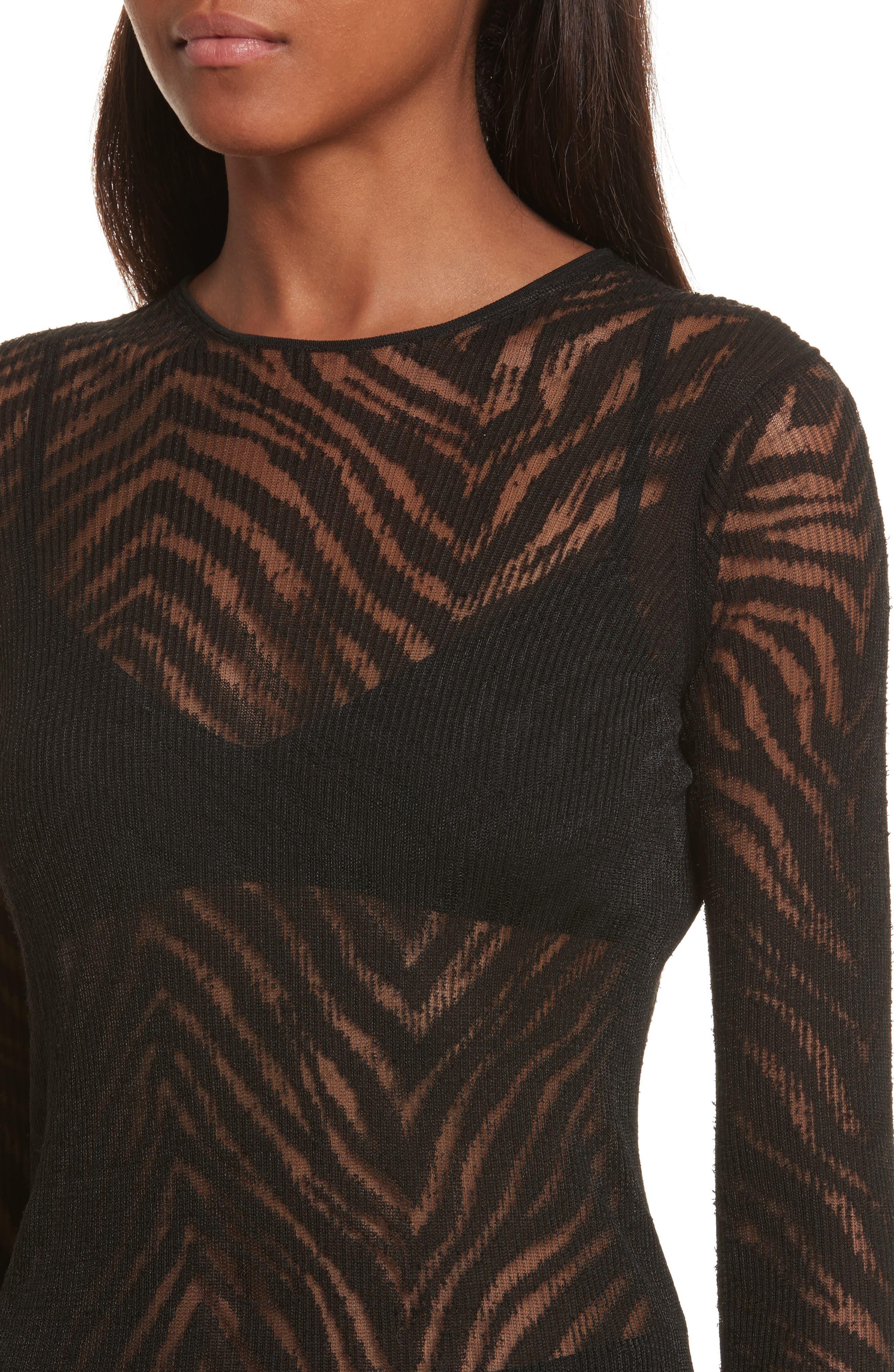 Alternate Image 4  - Helmut Lang Zebra Knit Pullover