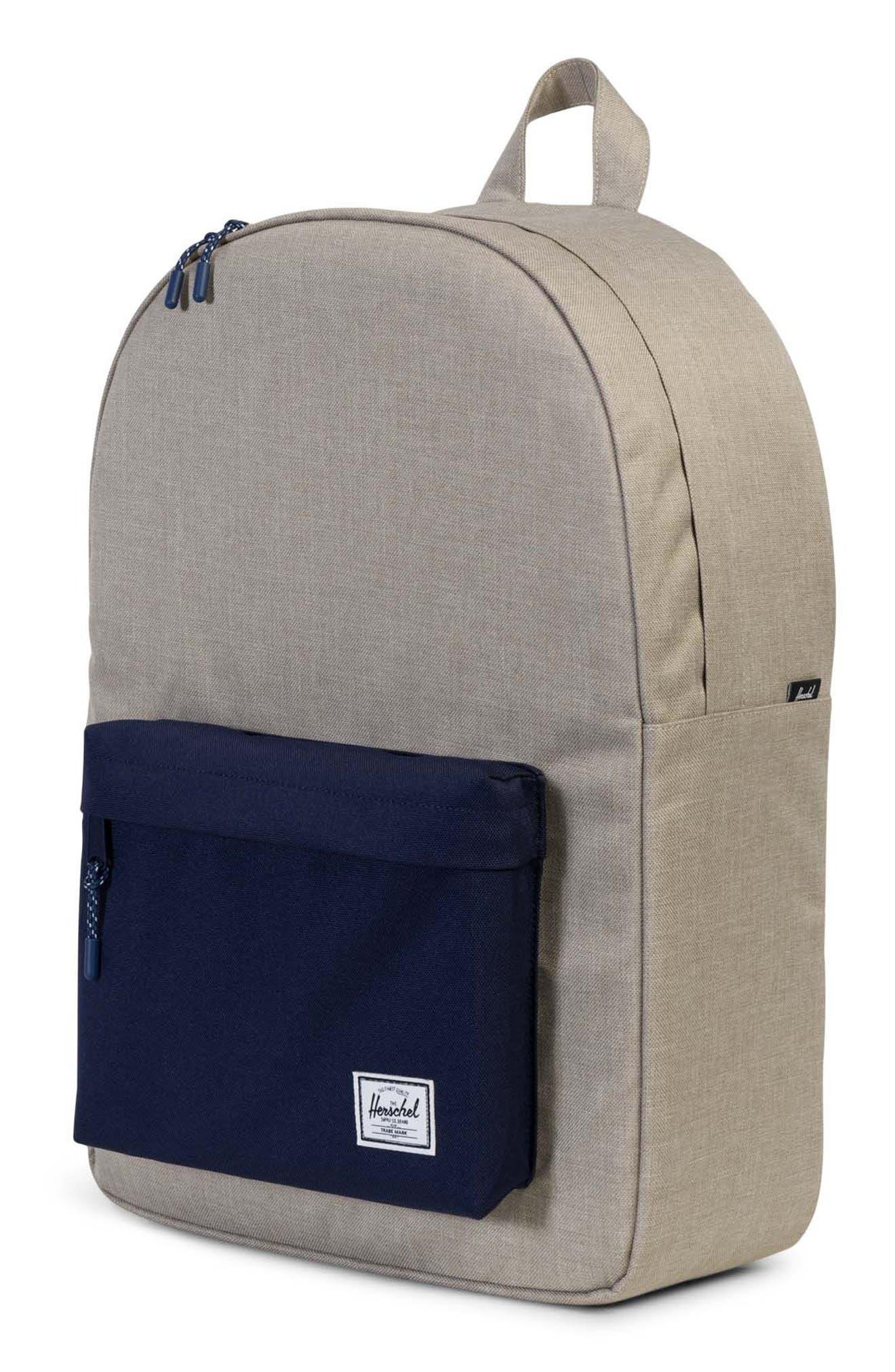 Classic Backpack,                             Alternate thumbnail 4, color,                             Light Khaki Crosshatch