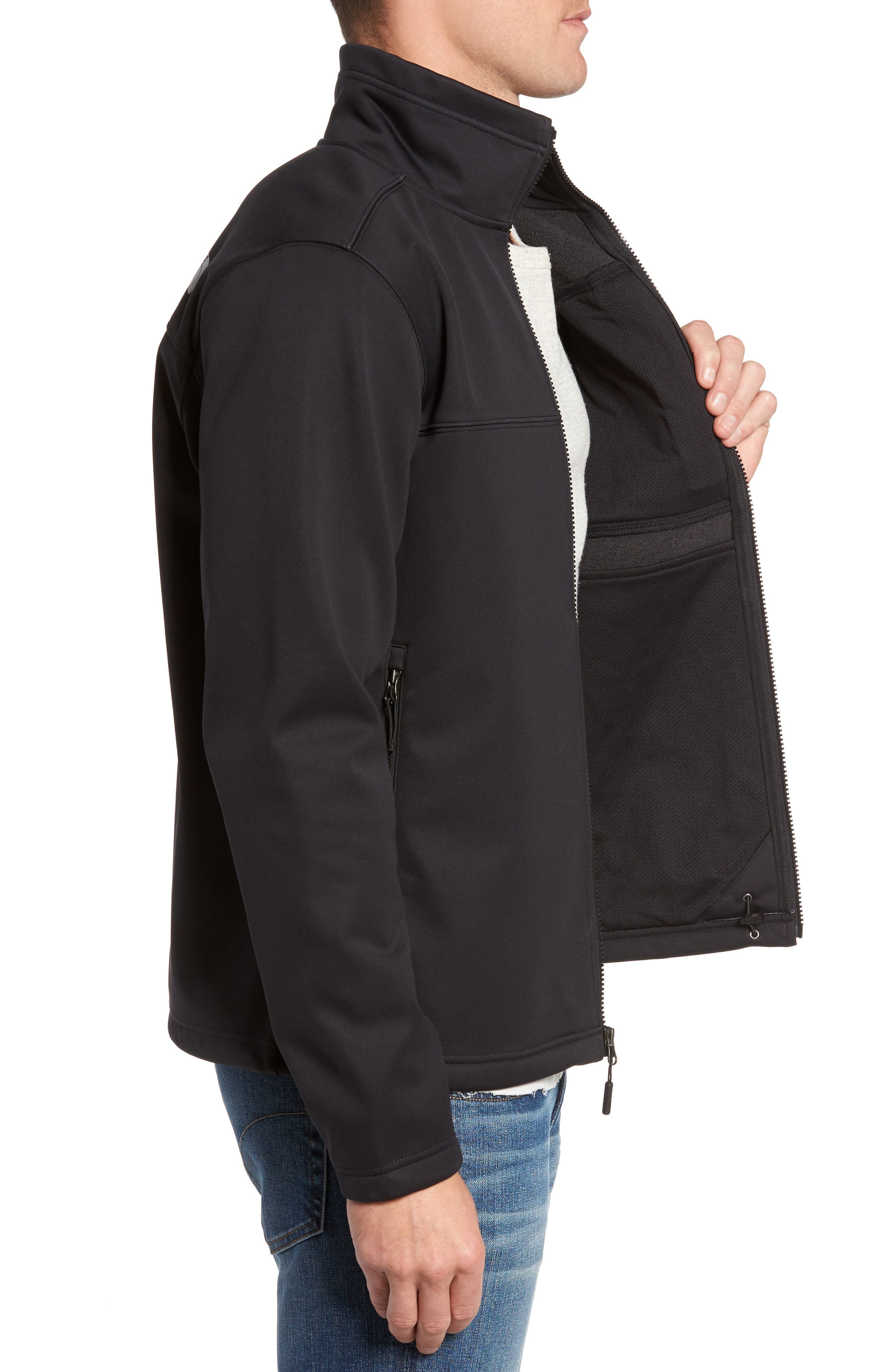 Apex Risor Jacket,                             Alternate thumbnail 3, color,                             Black/ Black