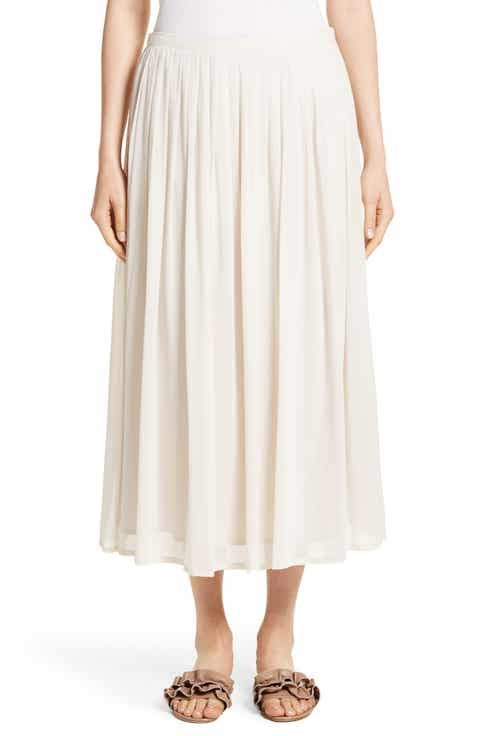 Fabiana Filippi Pleated Chiffon Midi Skirt