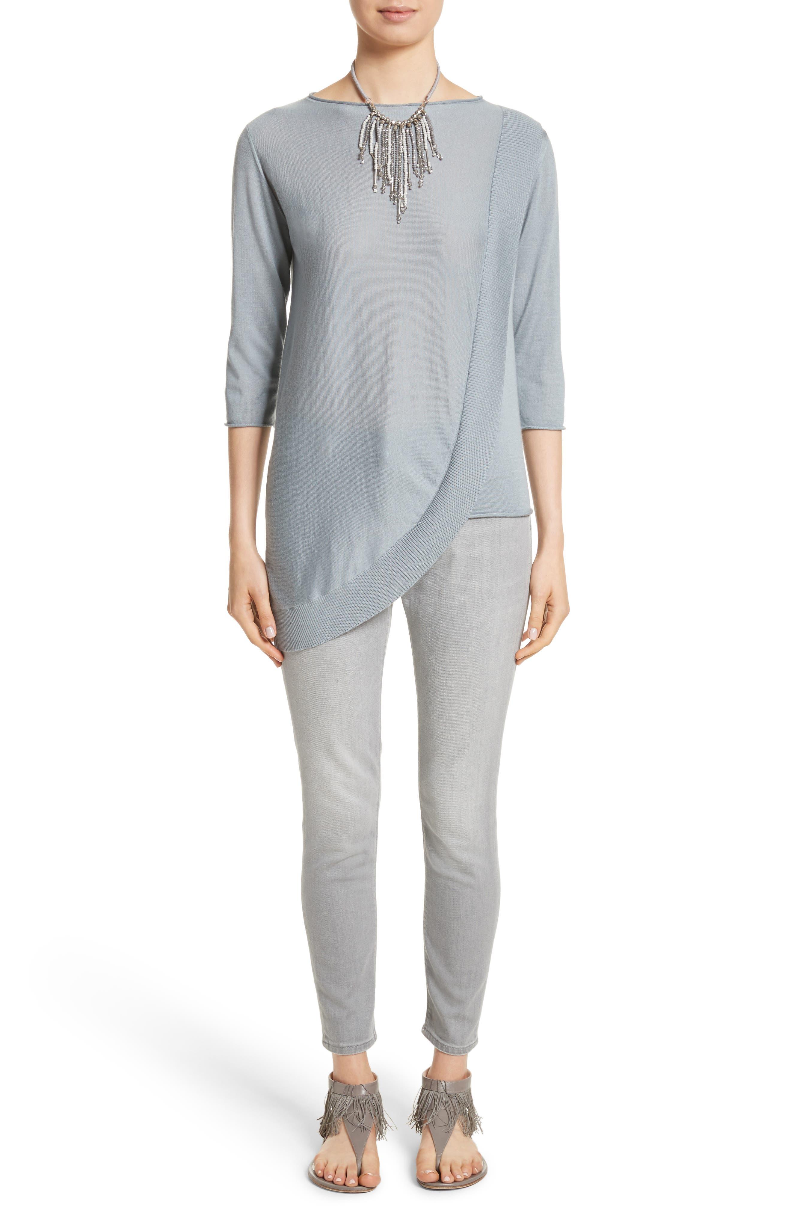 Alternate Image 7  - Fabiana Filippi Cashmere & Silk Drape Sweater