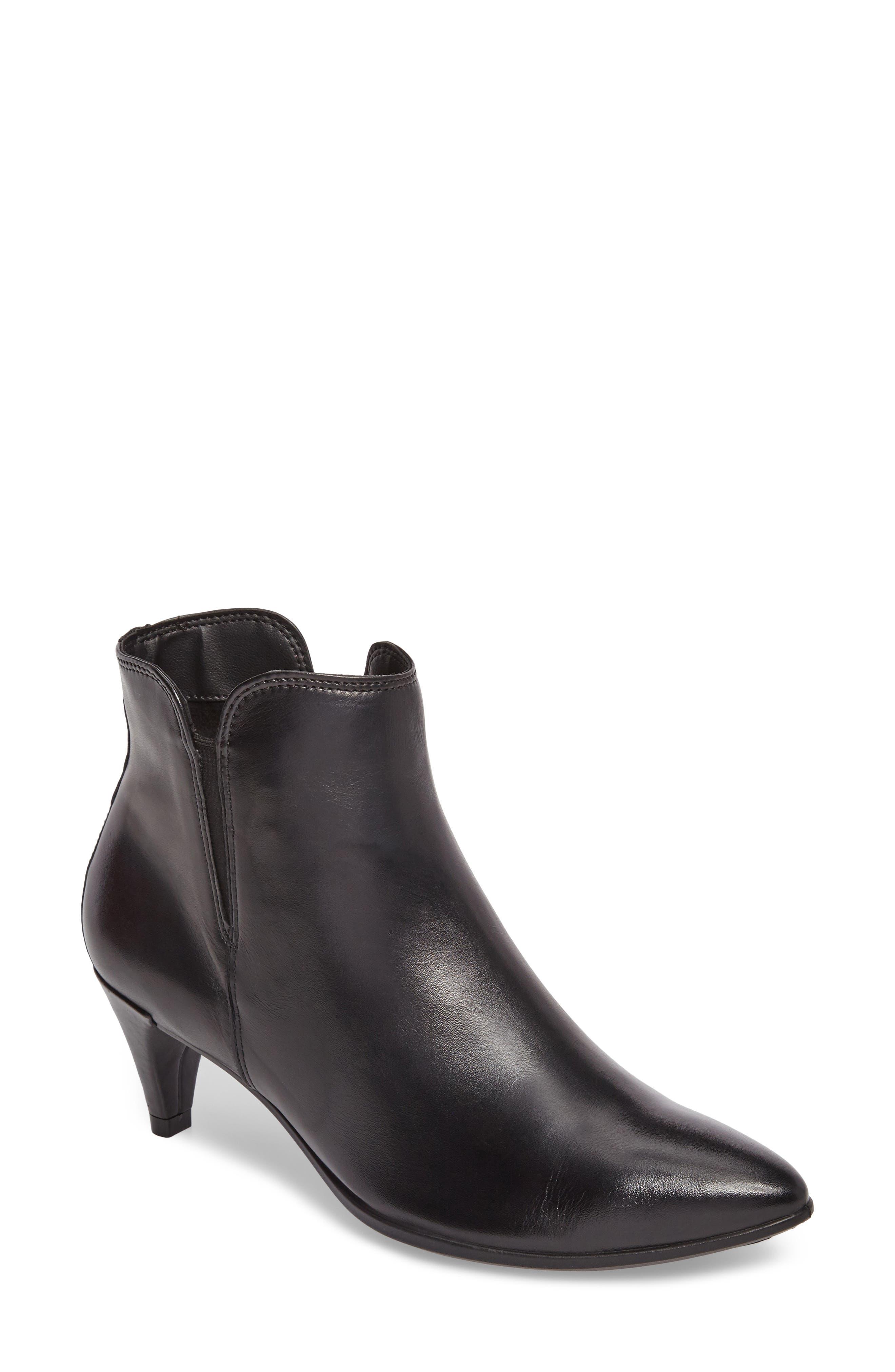 Shape 45 Bootie,                         Main,                         color, Black Leather
