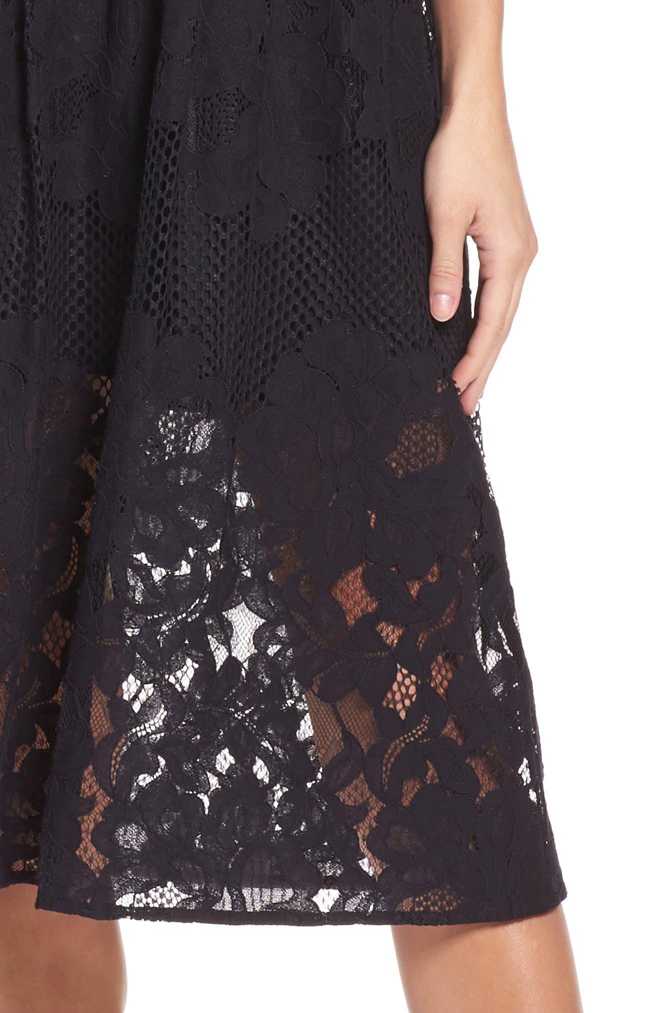 Alternate Image 5  - Ali & Jay Palais Royal Lace A-Line Dress