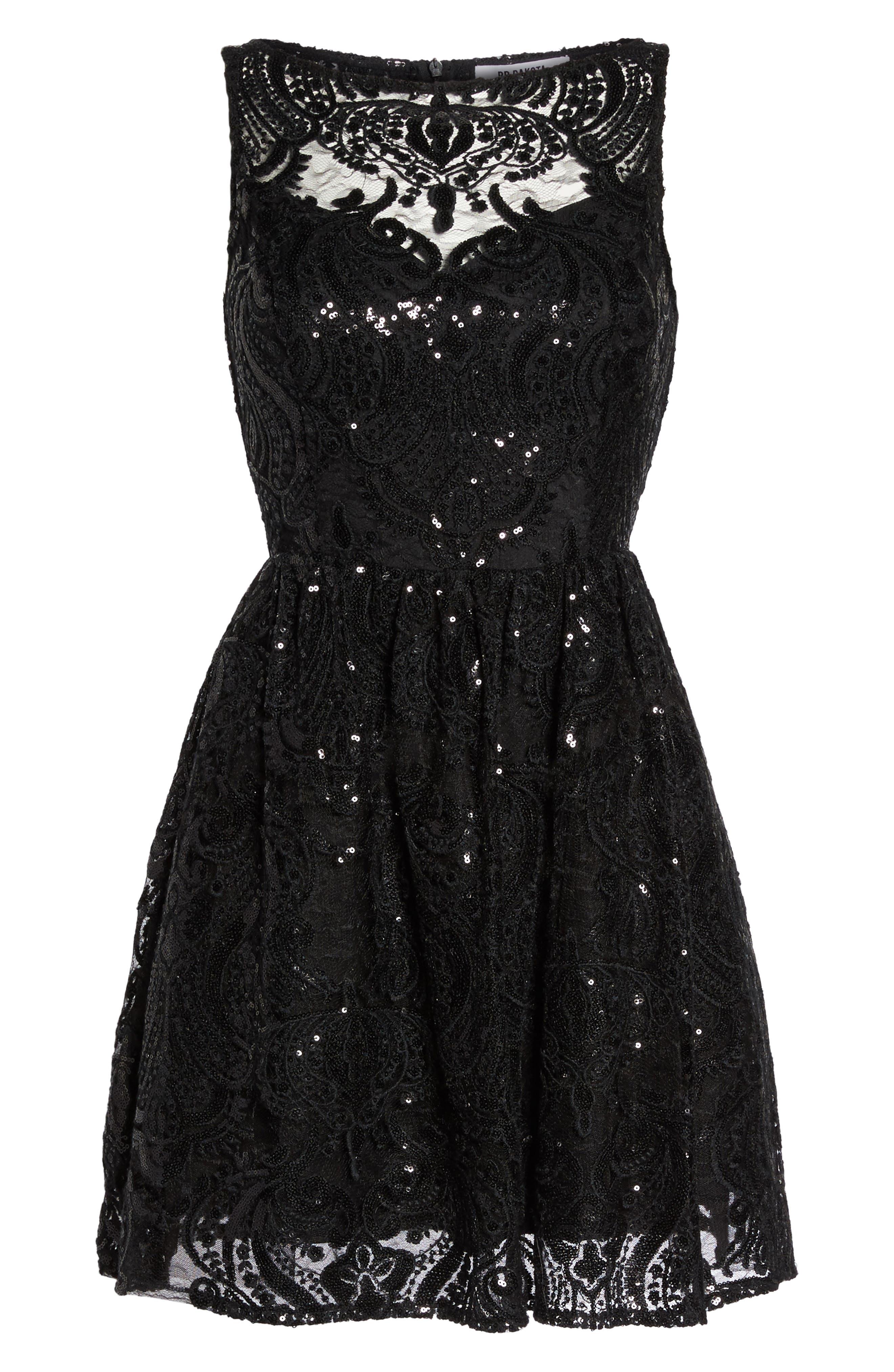 Alternate Image 6  - BB Dakota Tate Sequin Fit & Flare Dress