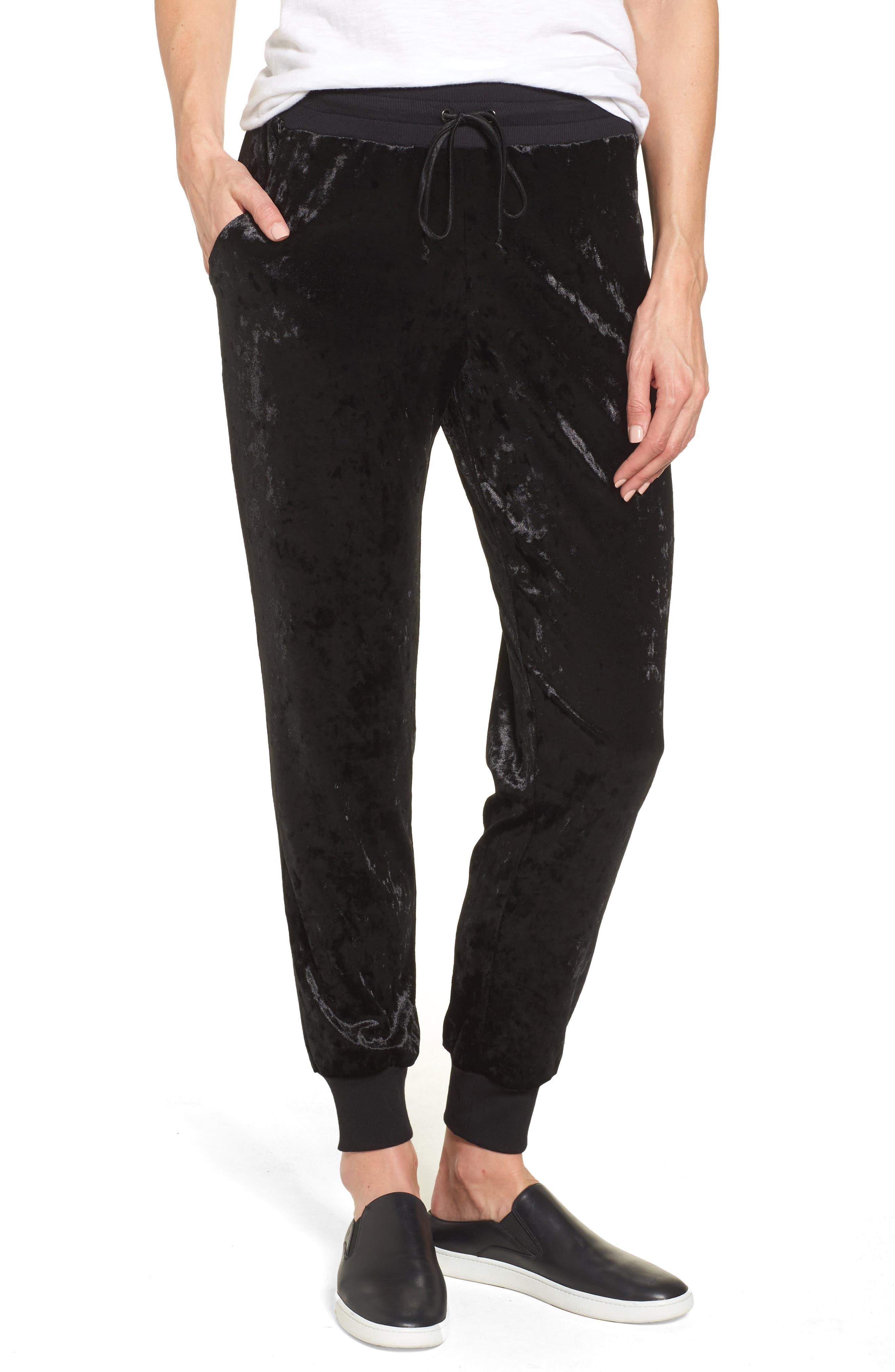 Halogen® Crushed Velvet Jogger Pants