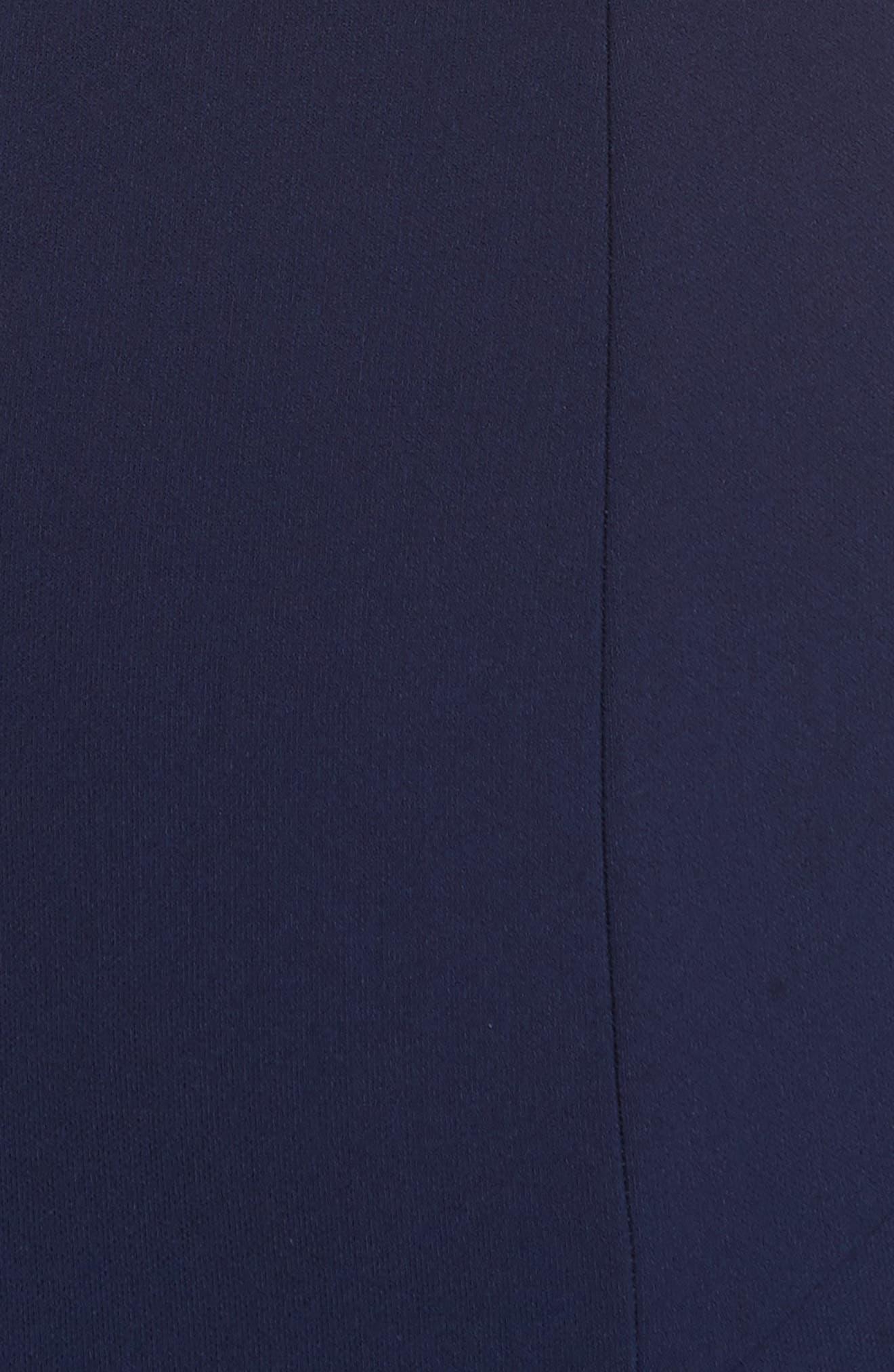 Dev Ruffle Fit & Flare Dress,                             Alternate thumbnail 5, color,                             Blue Violet/ Black
