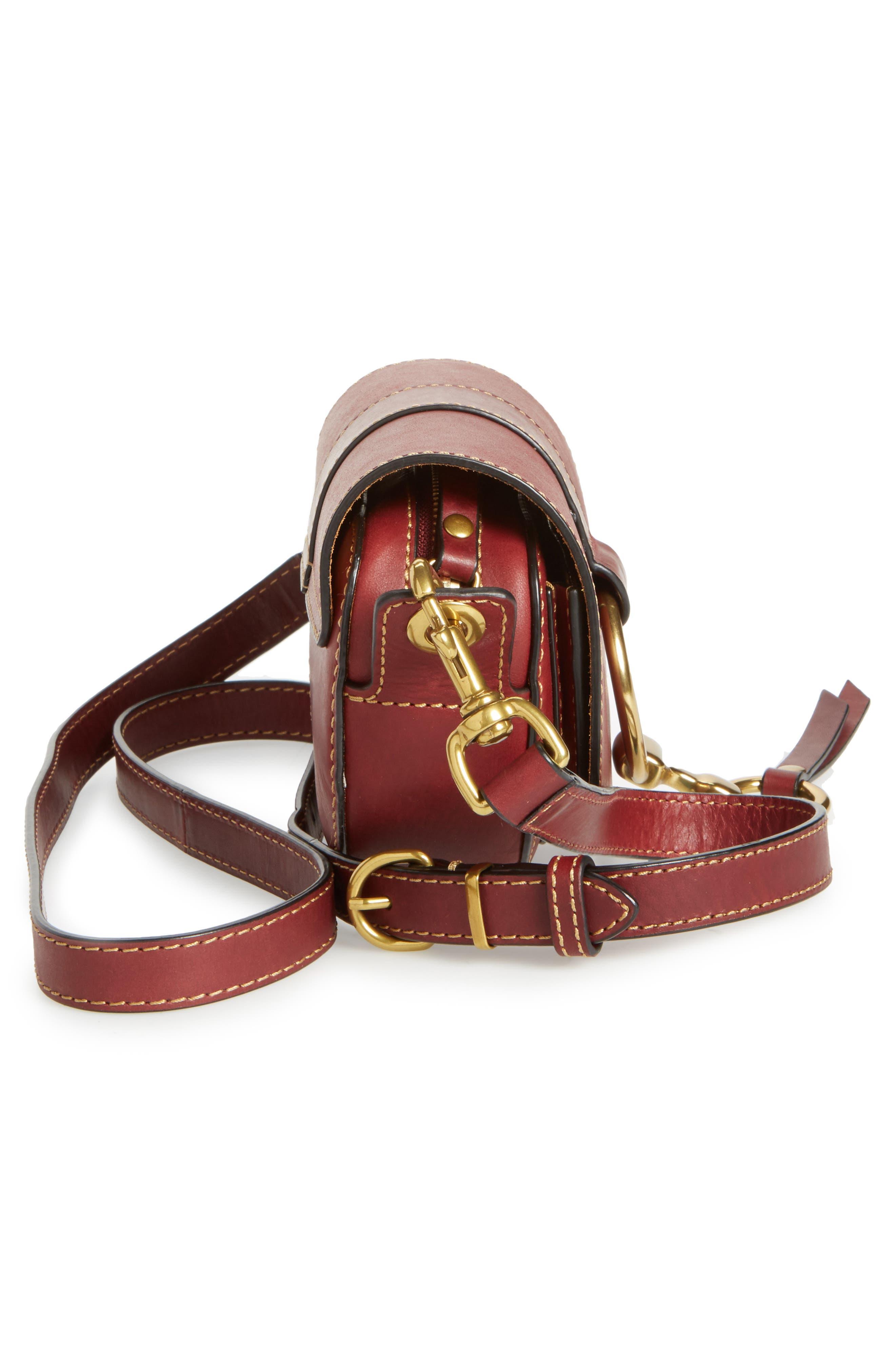 Alternate Image 5  - Frye Mini Ilana Harness Leather Saddle Bag