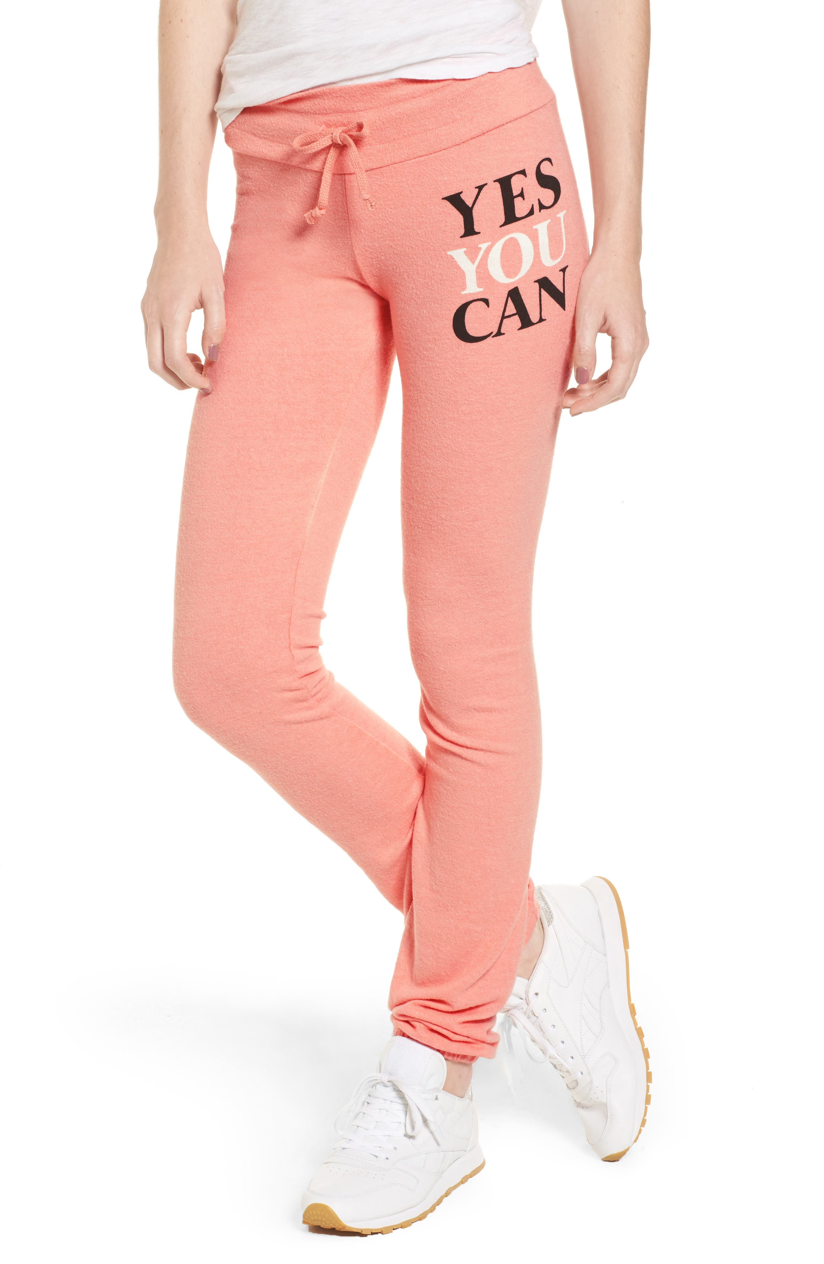 Yes You Can Sweatpants,                         Main,                         color, Peony