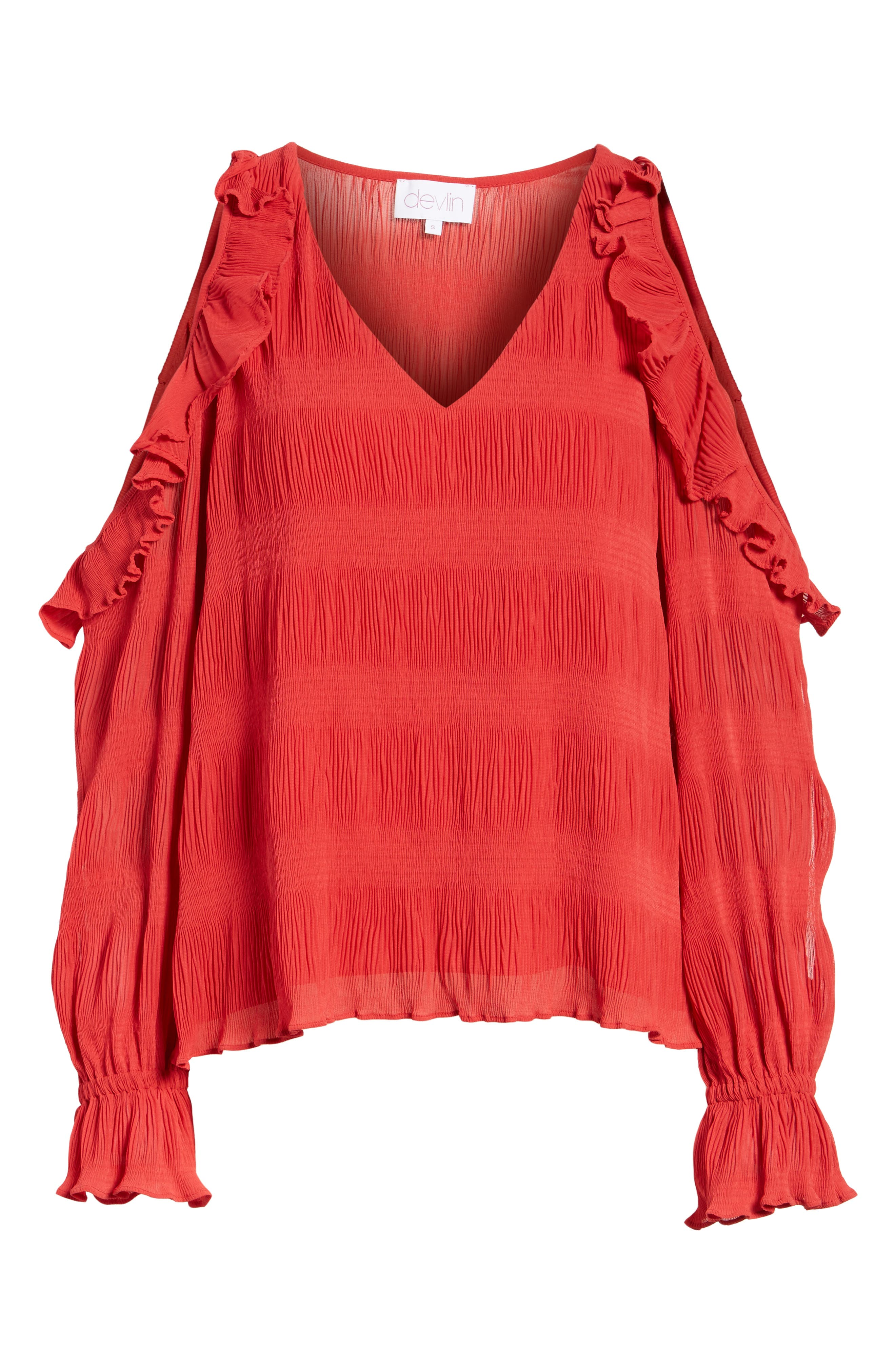 Alternate Image 6  - devlin Topaz Cold Shoulder Blouse