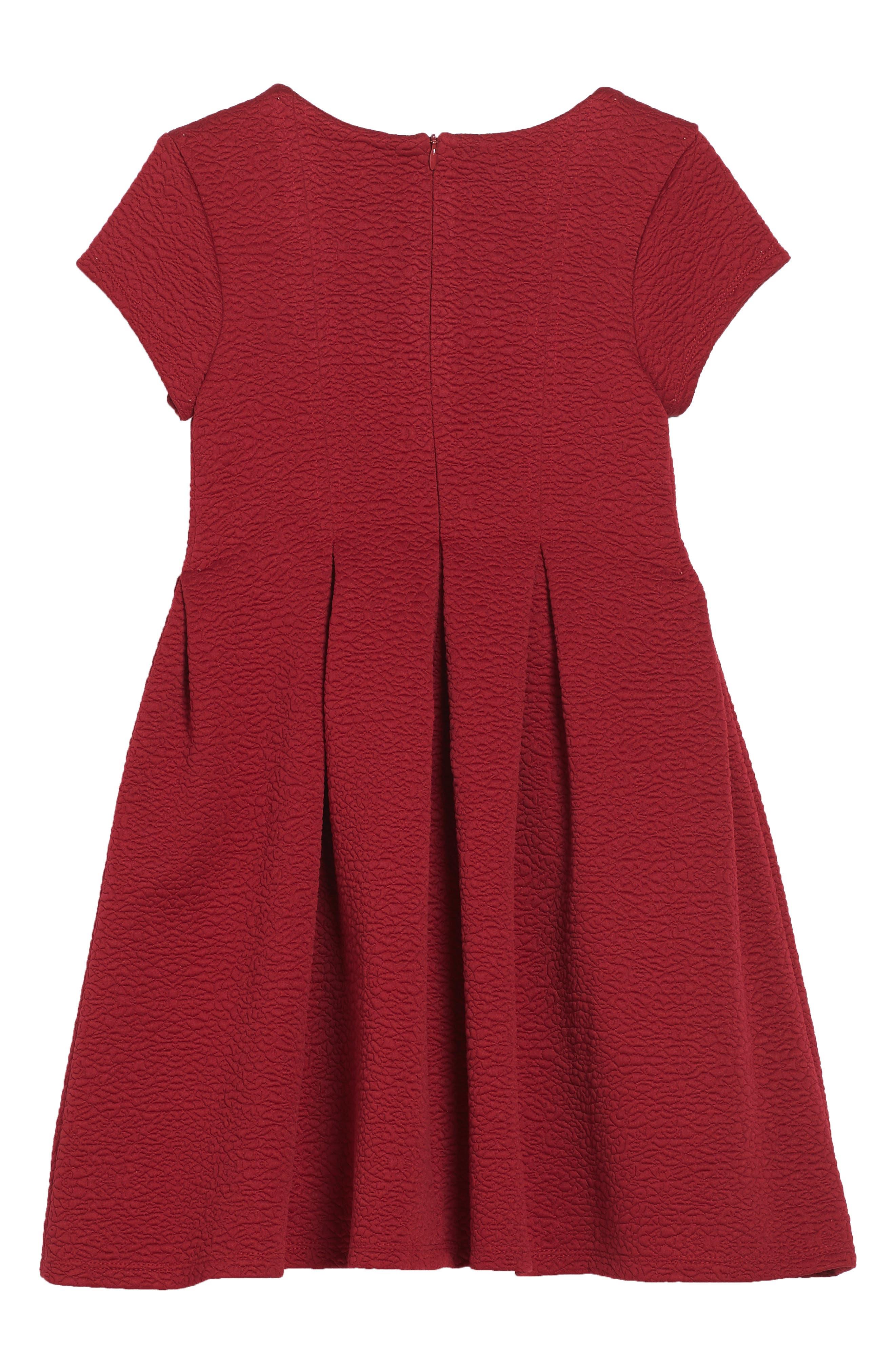 Alternate Image 2  - Iris & Ivy Textured Knit Dress (Toddler Girls, Little Girls & Big Girls)