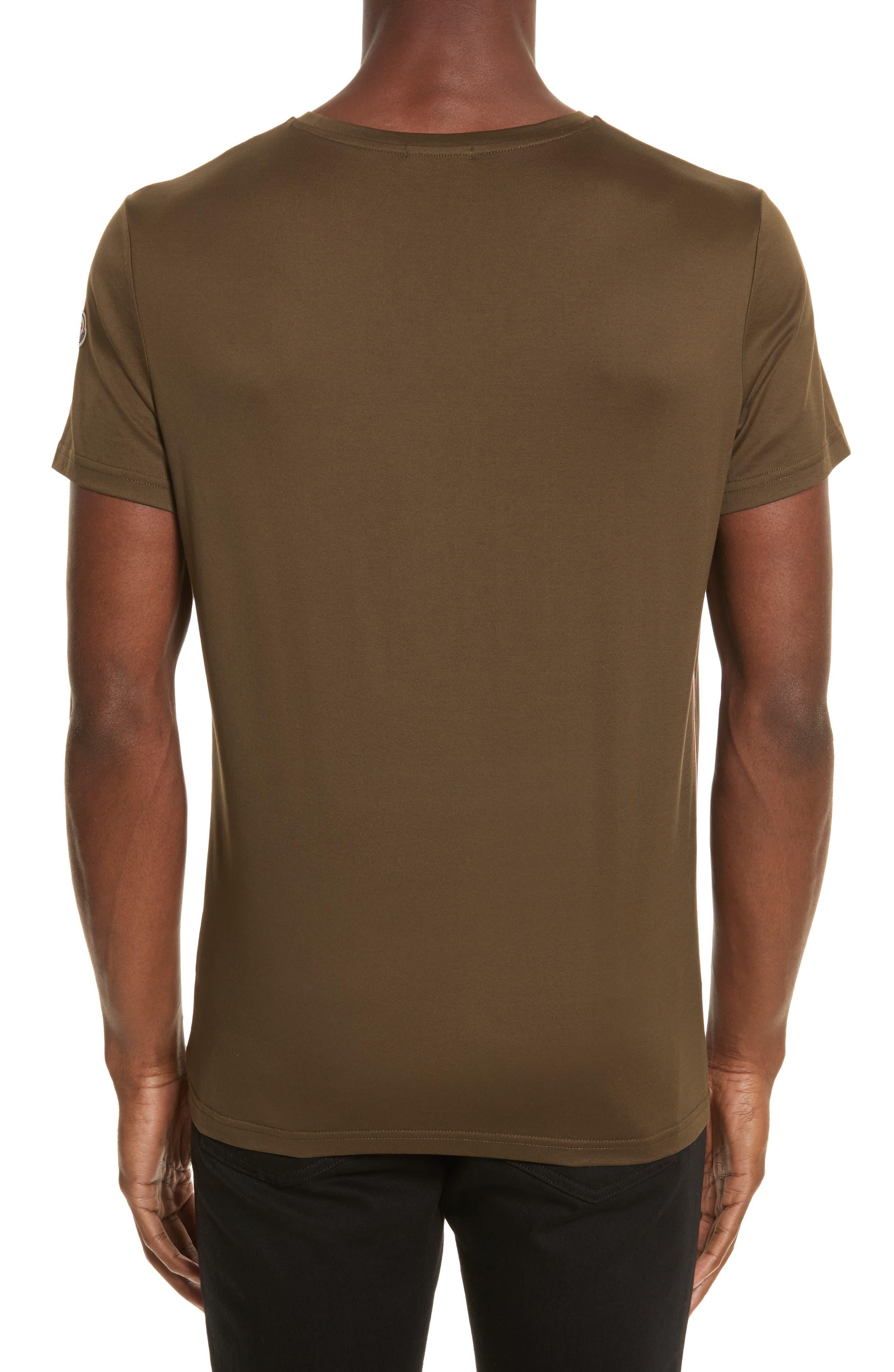 Flag Trim T-Shirt,                             Alternate thumbnail 2, color,                             Olive