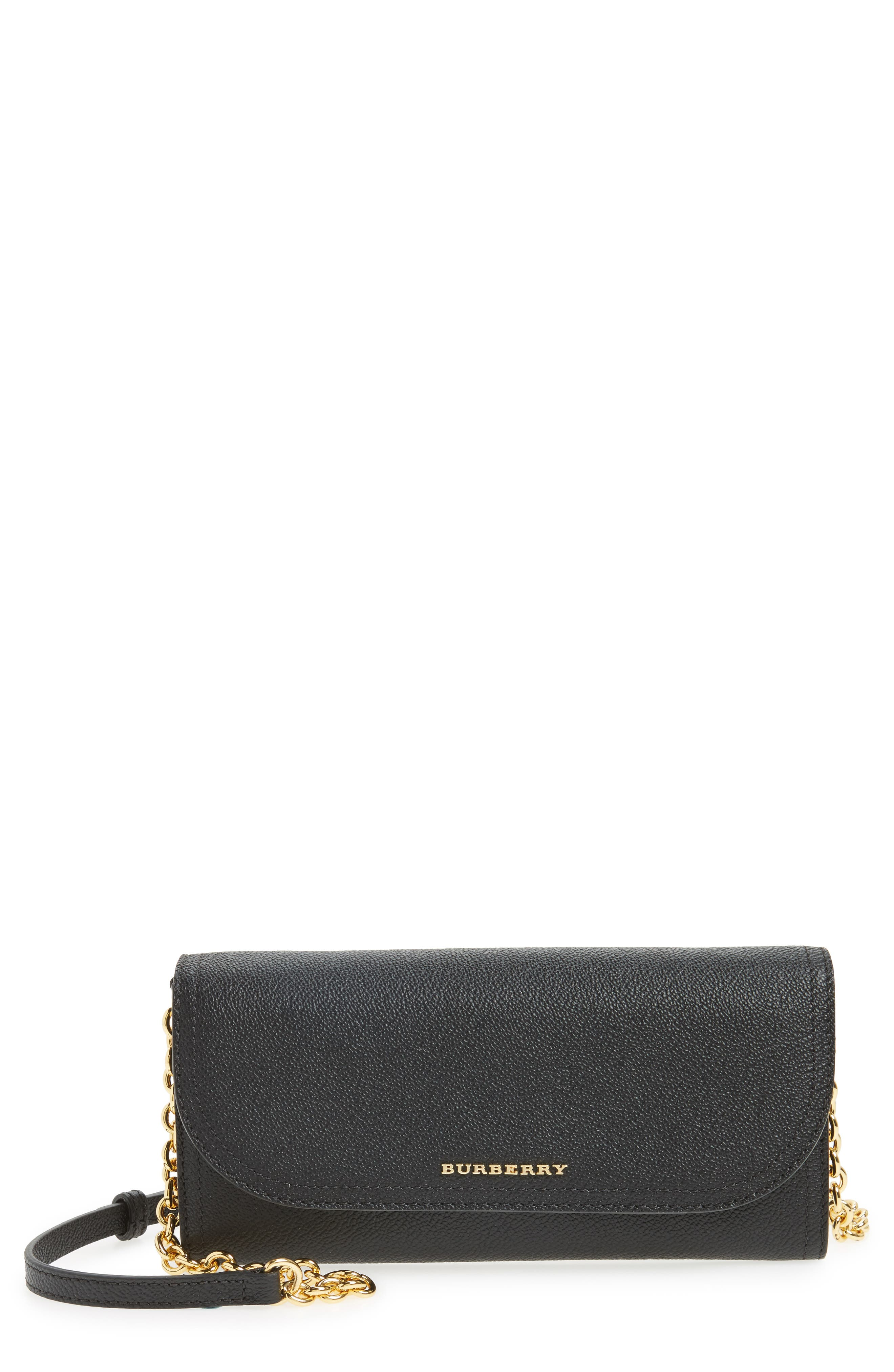Burberry Henley Leather Wallet on a Chain