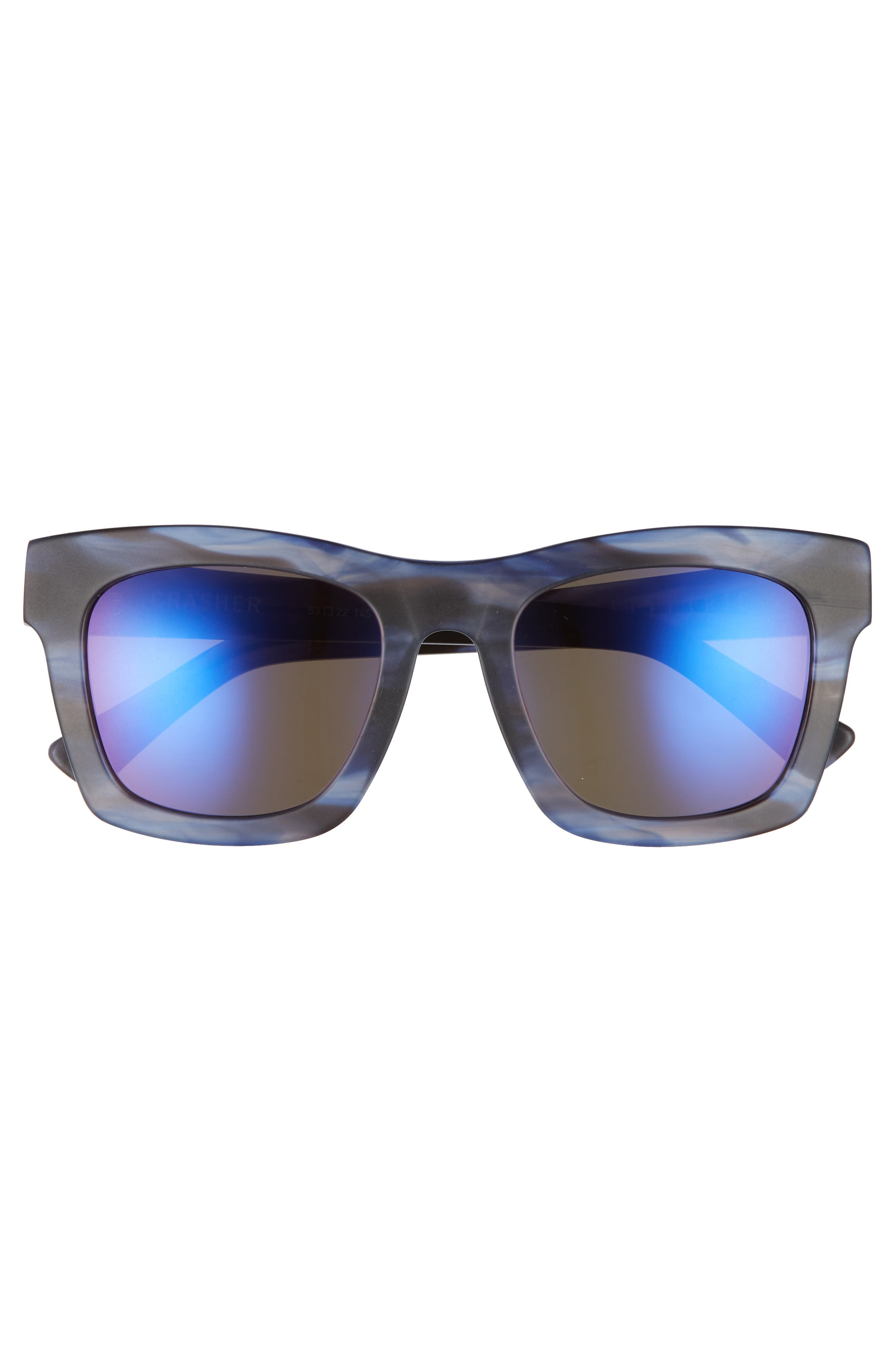 Crasher 53mm Mirrored Sunglasses,                             Alternate thumbnail 5, color,                             Skyline/ Plasma