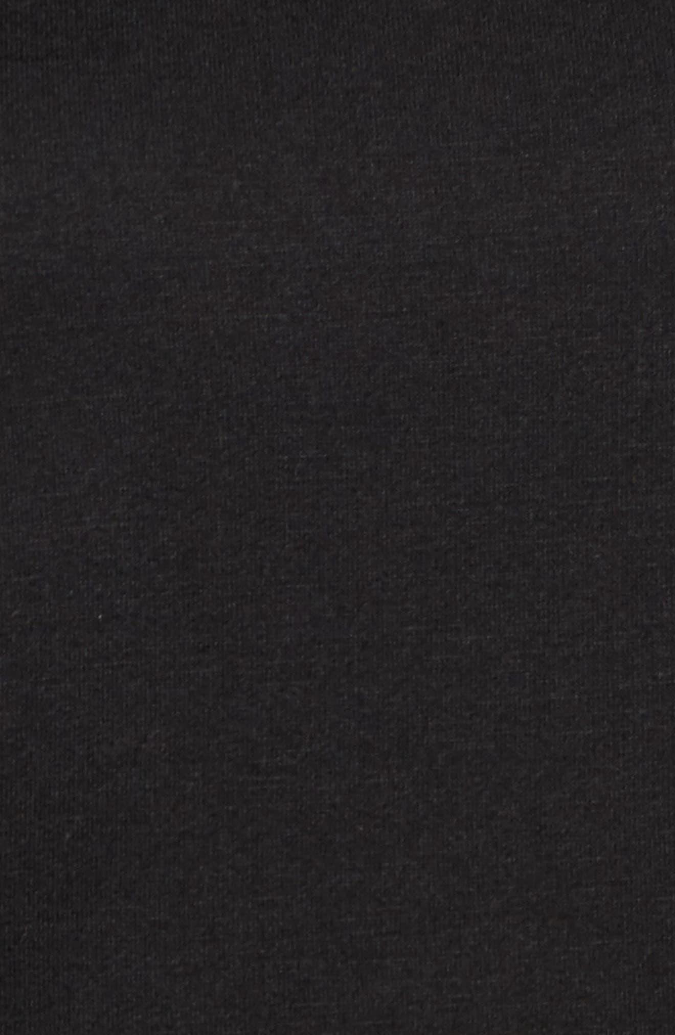 Knit Poplin Mix Top,                             Alternate thumbnail 5, color,                             Black