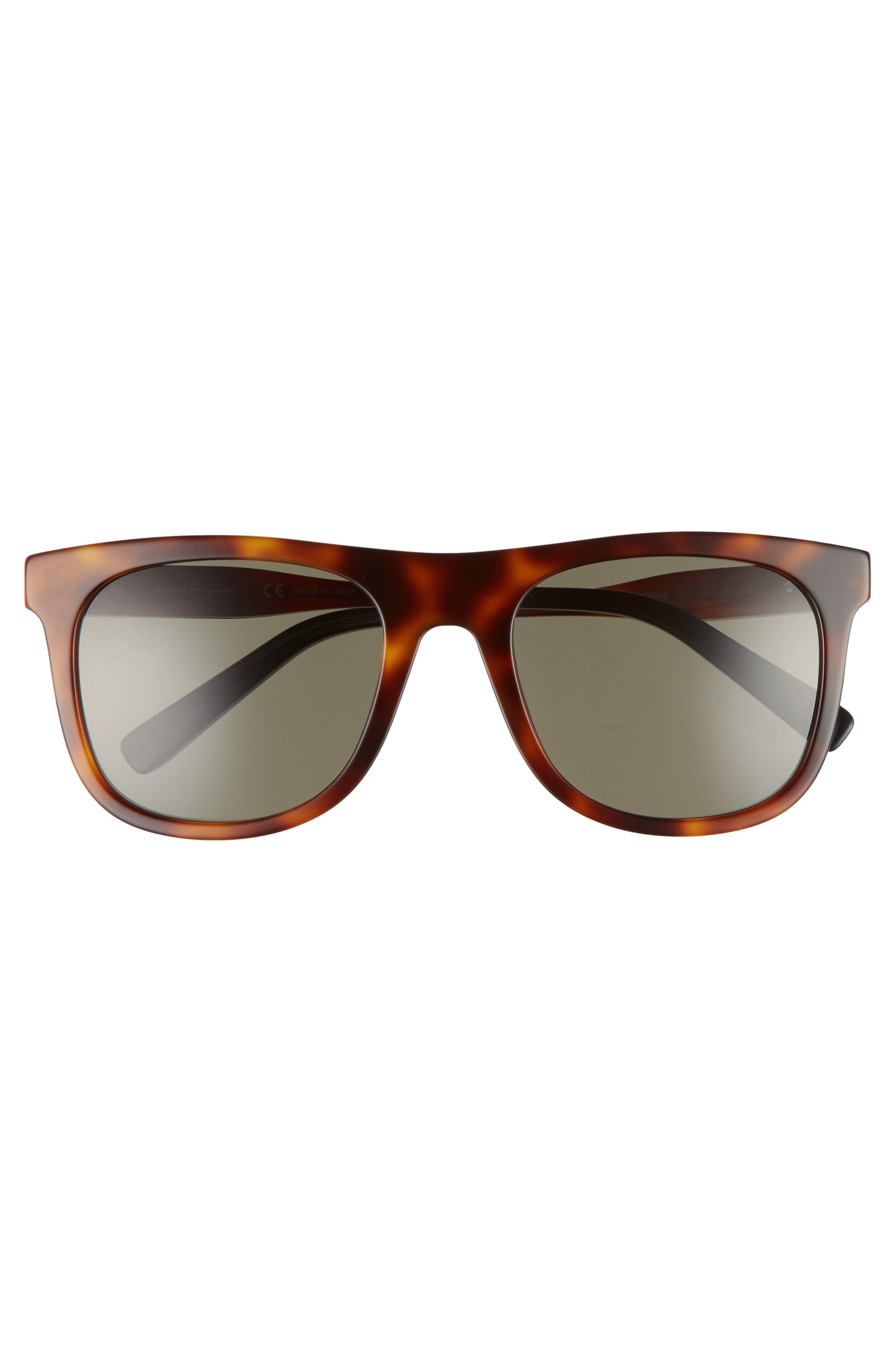55mm Sunglasses,                             Alternate thumbnail 2, color,                             Tortoise