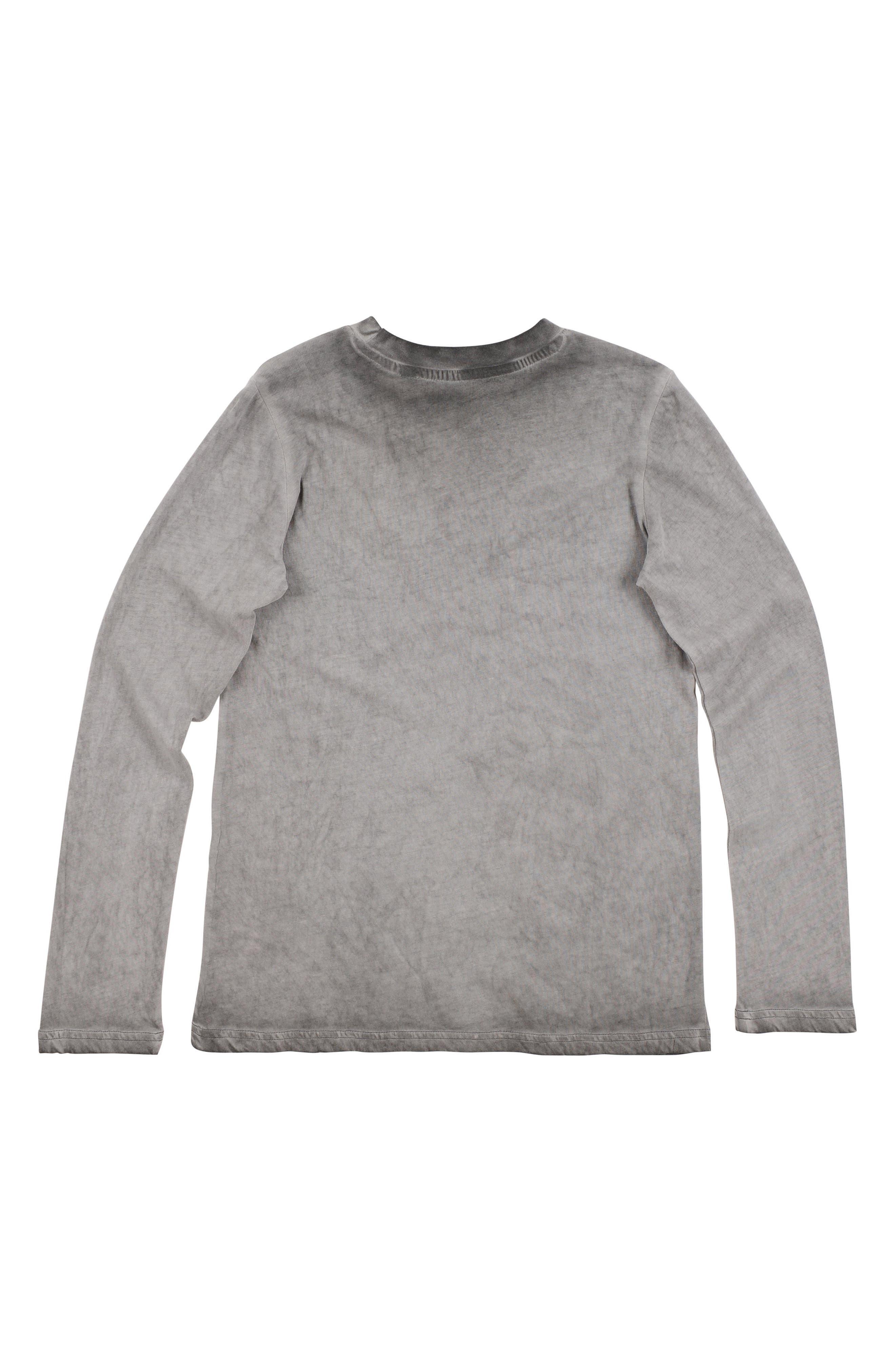 Sporty Long Sleeve T-Shirt,                             Alternate thumbnail 2, color,                             Gargoyle