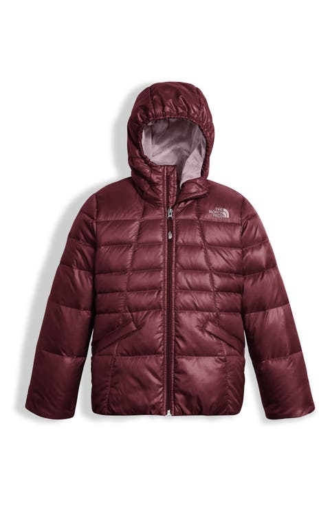 02ab6cd105 The North Face Moondoggy 2.0 Water Repellent Down Jacket (Little Girls Big  Girls) Black ...