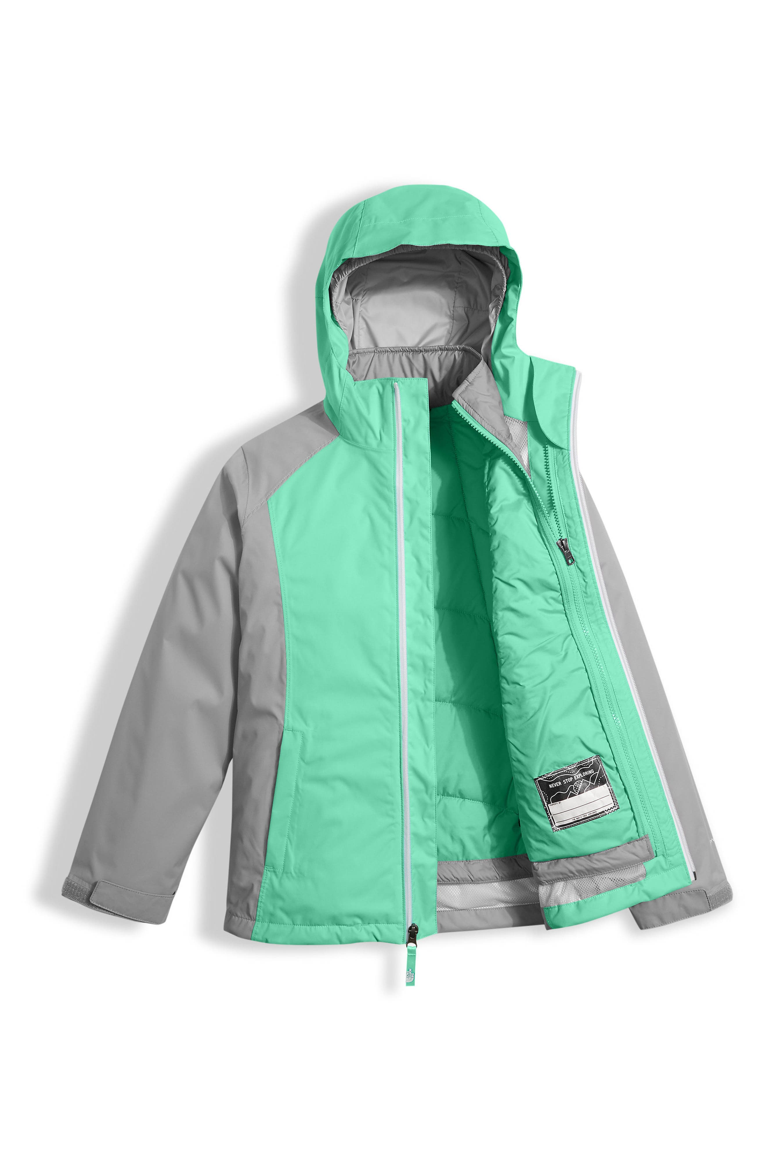 Alternate Image 3  - The North Face East Ridge Triclimate® Waterproof 3-in-1 Jacket (Little Girls & Big Girls)