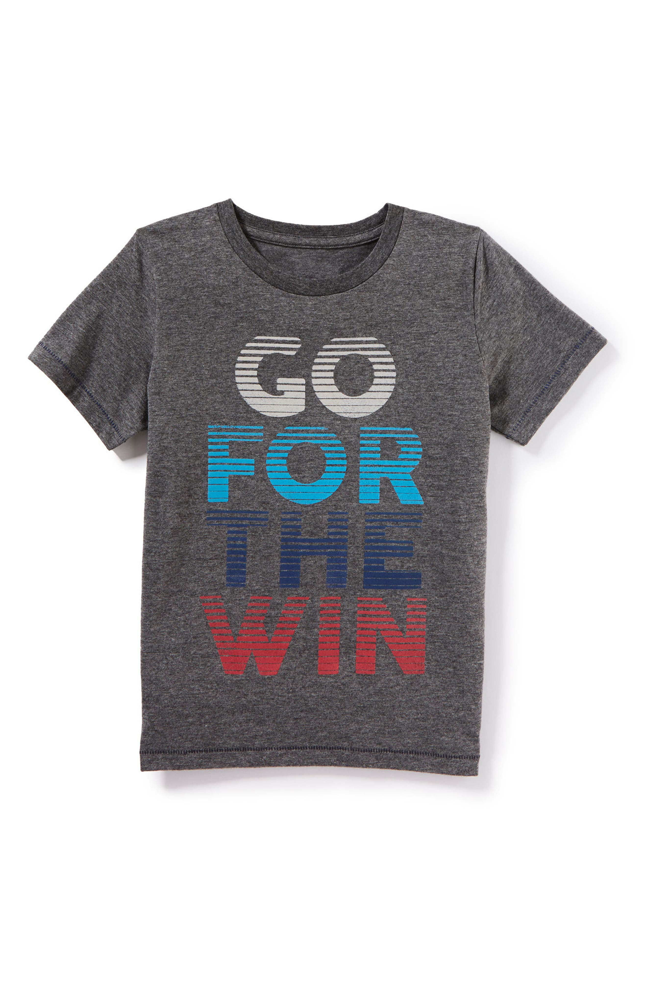 Go for the Win Graphic T-Shirt,                         Main,                         color, Heather Grey