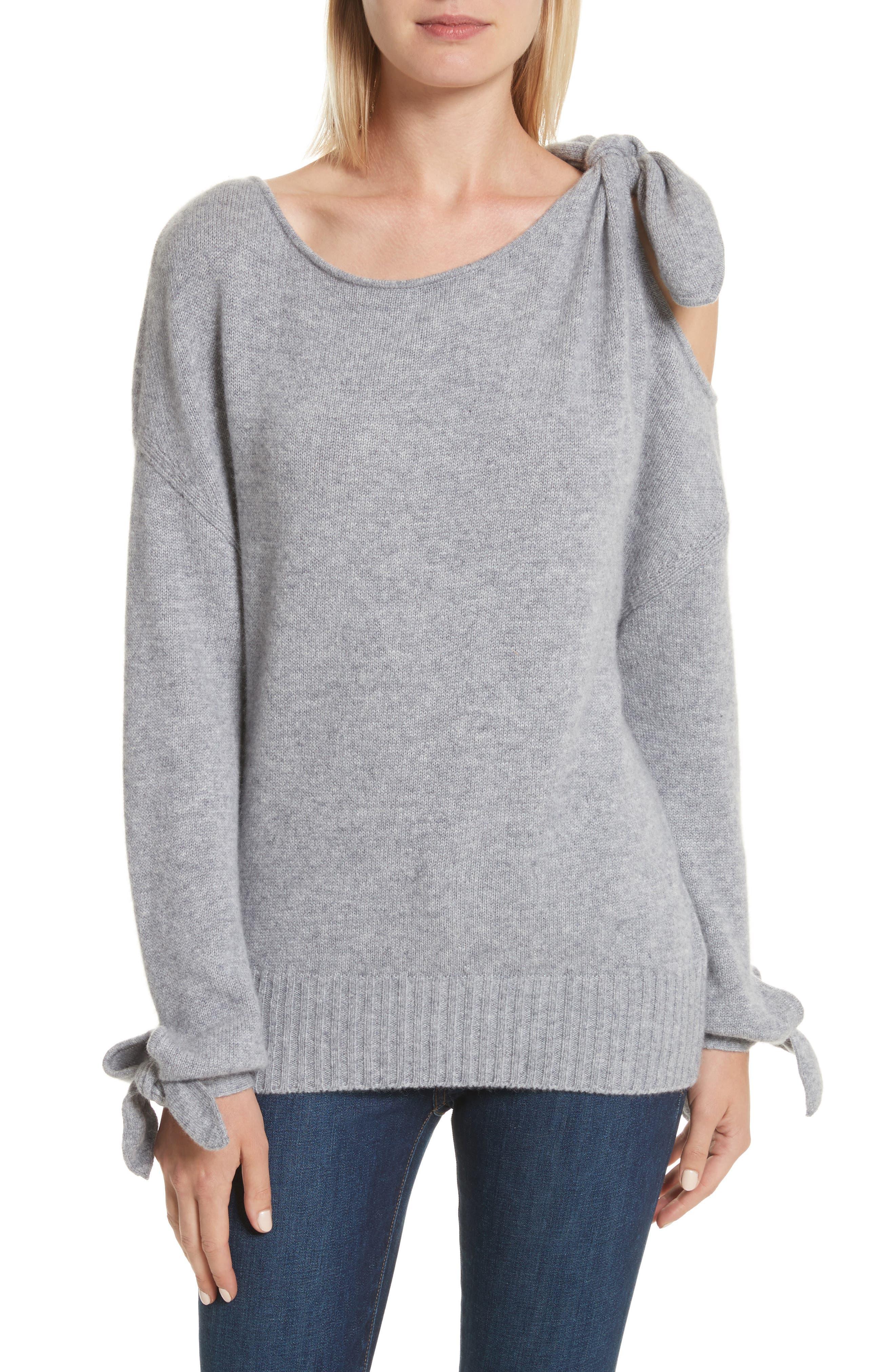 Alternate Image 1 Selected - Derek Lam 10 Crosby Tie Detail Cashmere Sweater