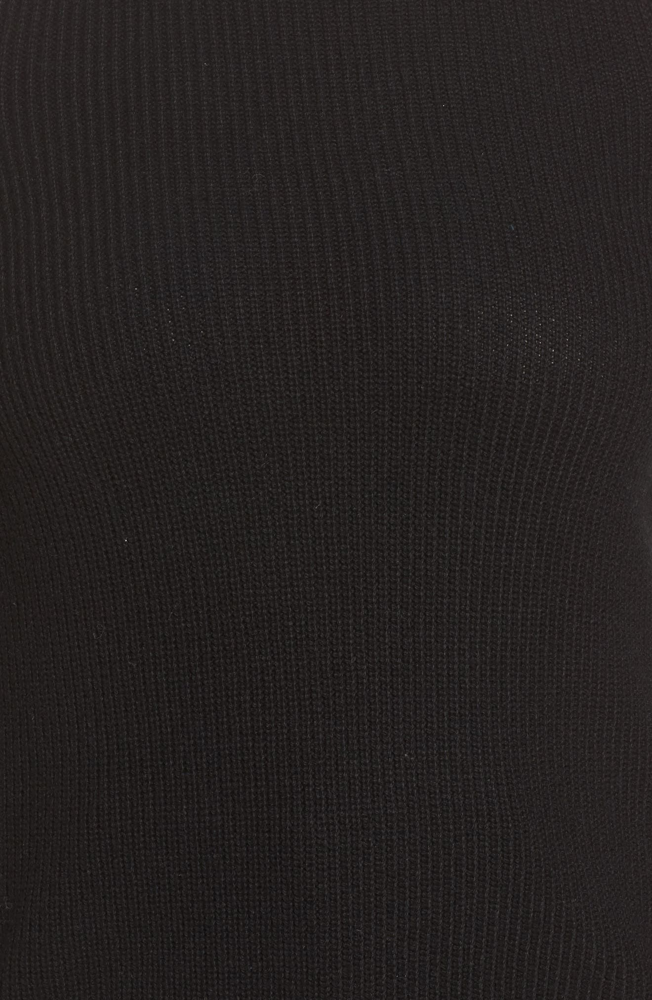 Cold Shoulder Sweater,                             Alternate thumbnail 5, color,                             Lucky Black