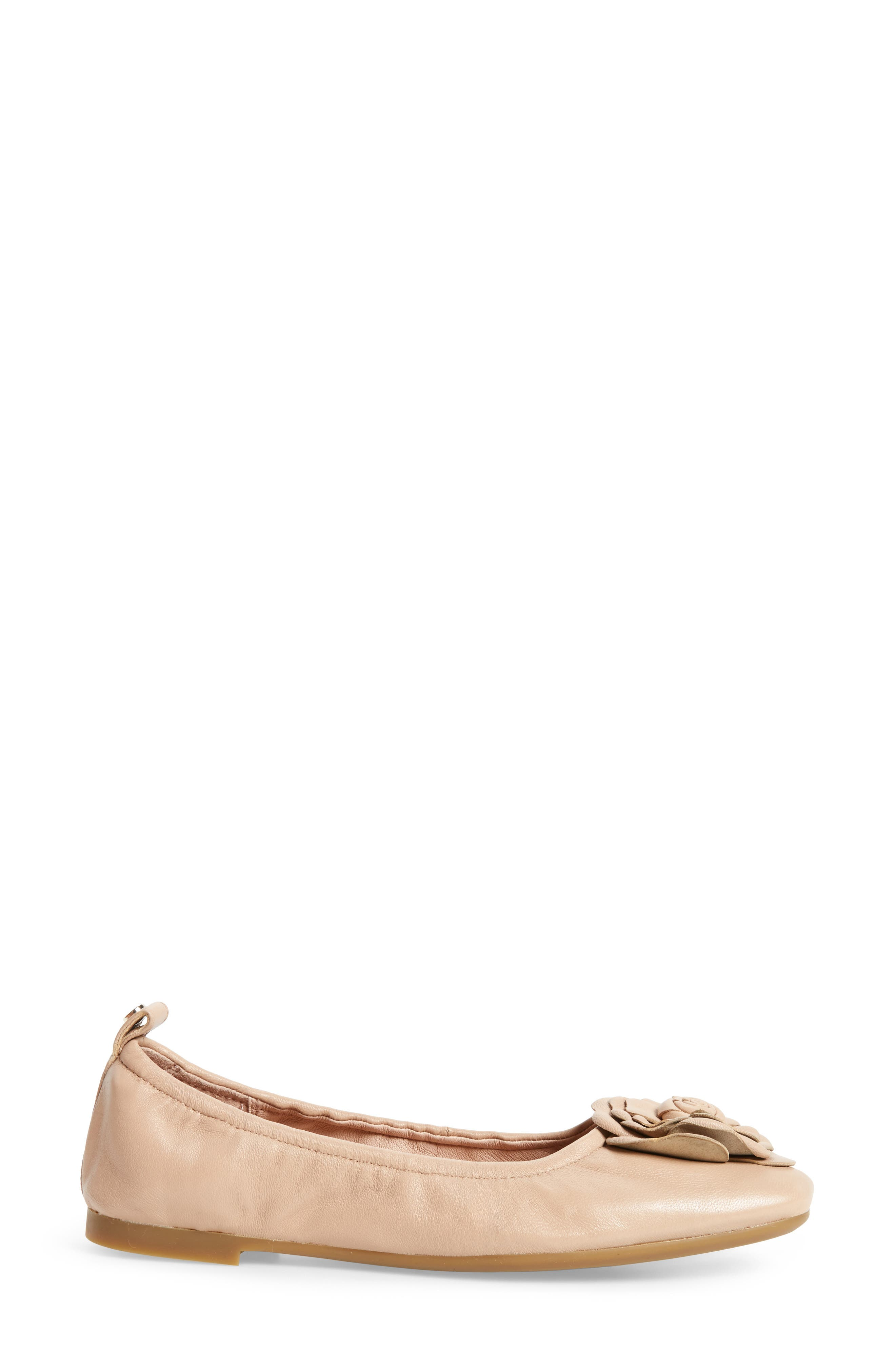 Rosalyn Ballet Flat,                             Alternate thumbnail 3, color,                             Nude Leather