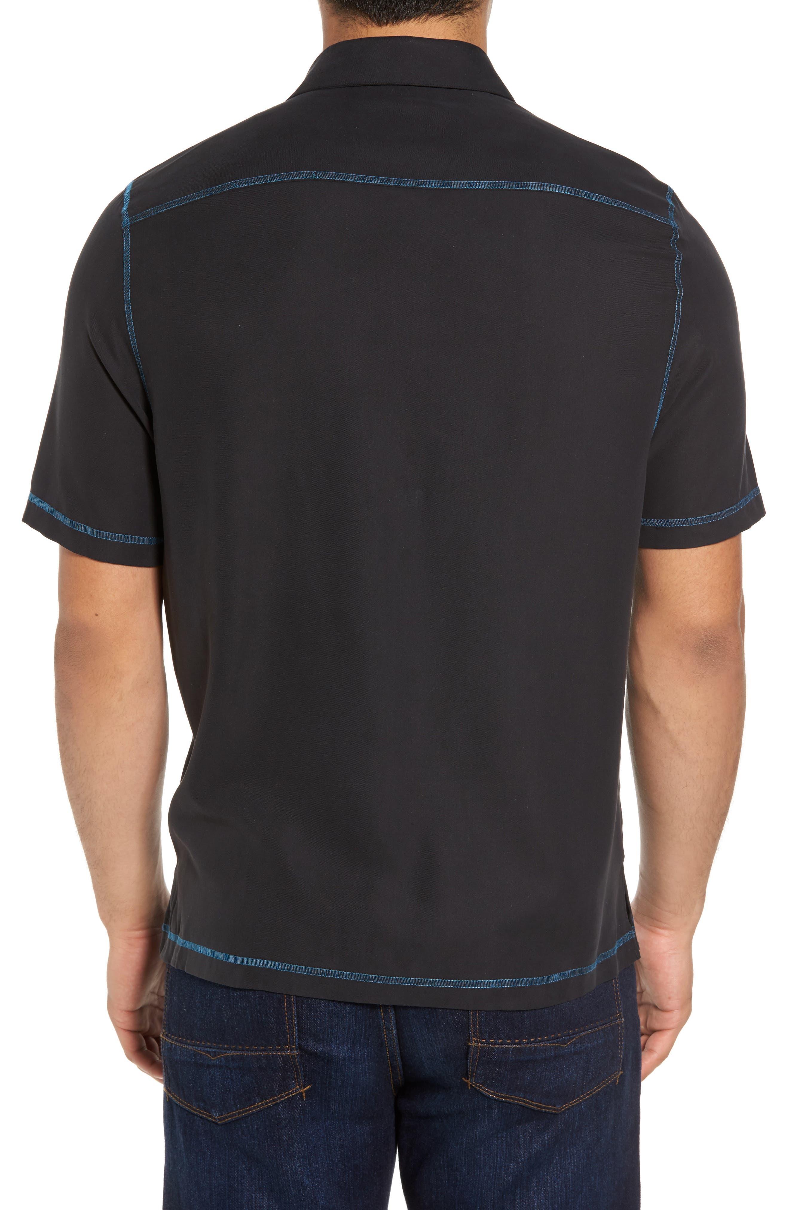New Originals Silk Sport Shirt,                             Alternate thumbnail 2, color,                             Black