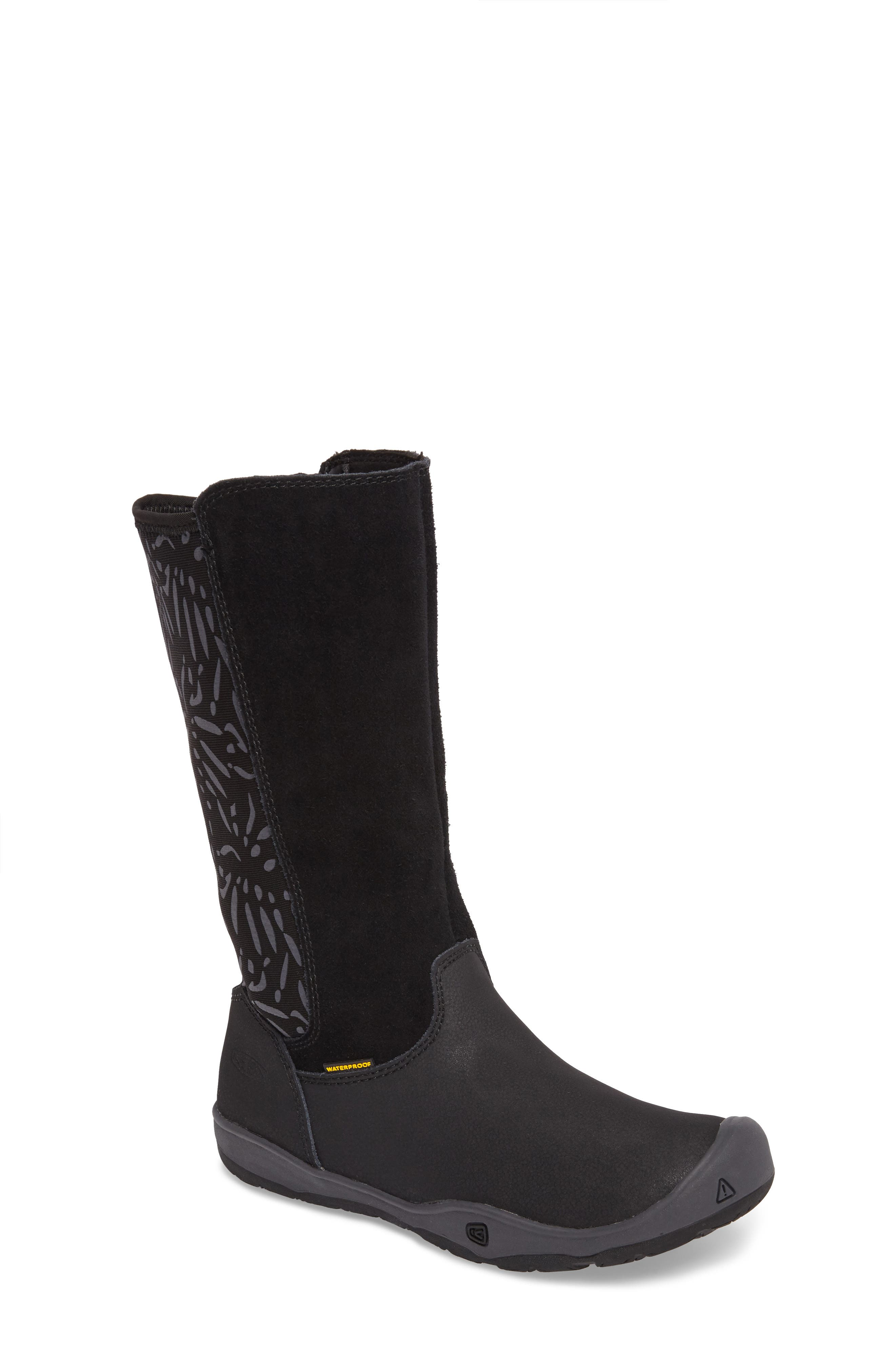 Moxie Tall Waterproof Boot,                         Main,                         color, Black/ Magnet