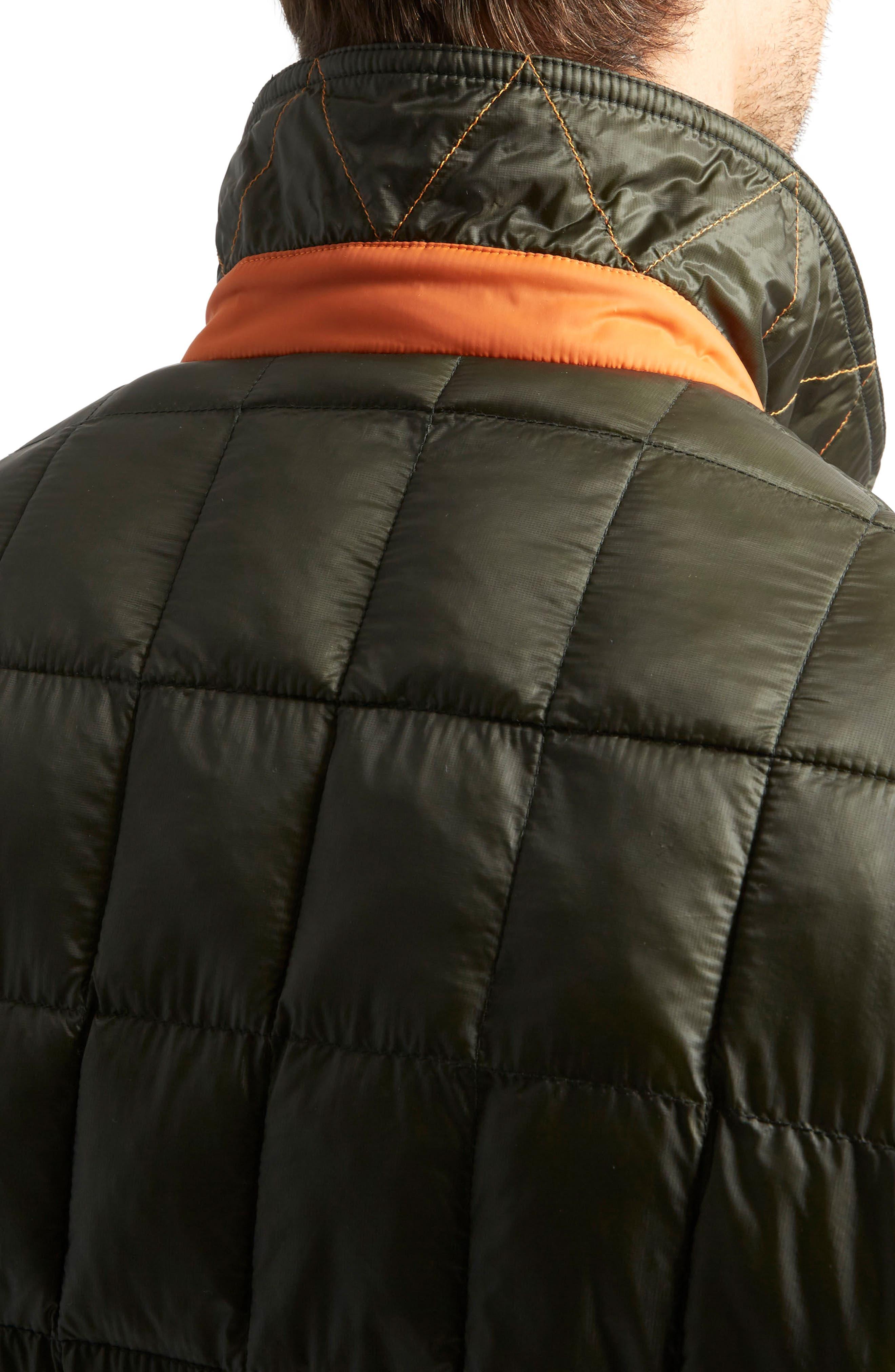Butler Heat System Quilted Walking Jacket,                             Alternate thumbnail 3, color,                             Kale