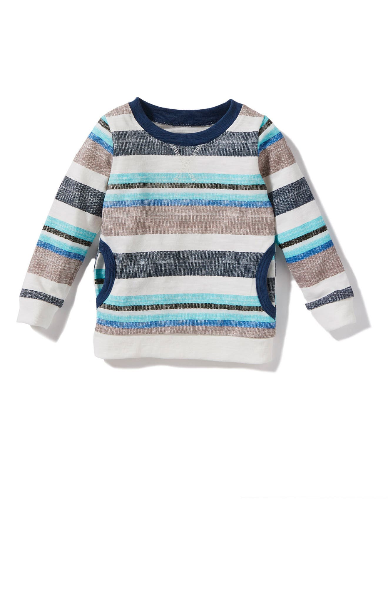 Alternate Image 1 Selected - Peek Declan Stripe Shirt (Baby Boys)