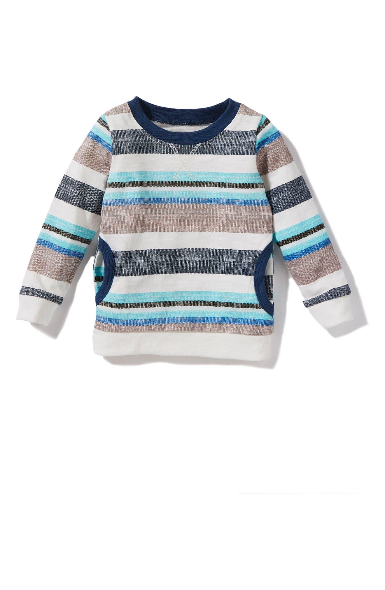 Peek Declan Stripe Shirt,                             Main thumbnail 1, color,                             Aqua