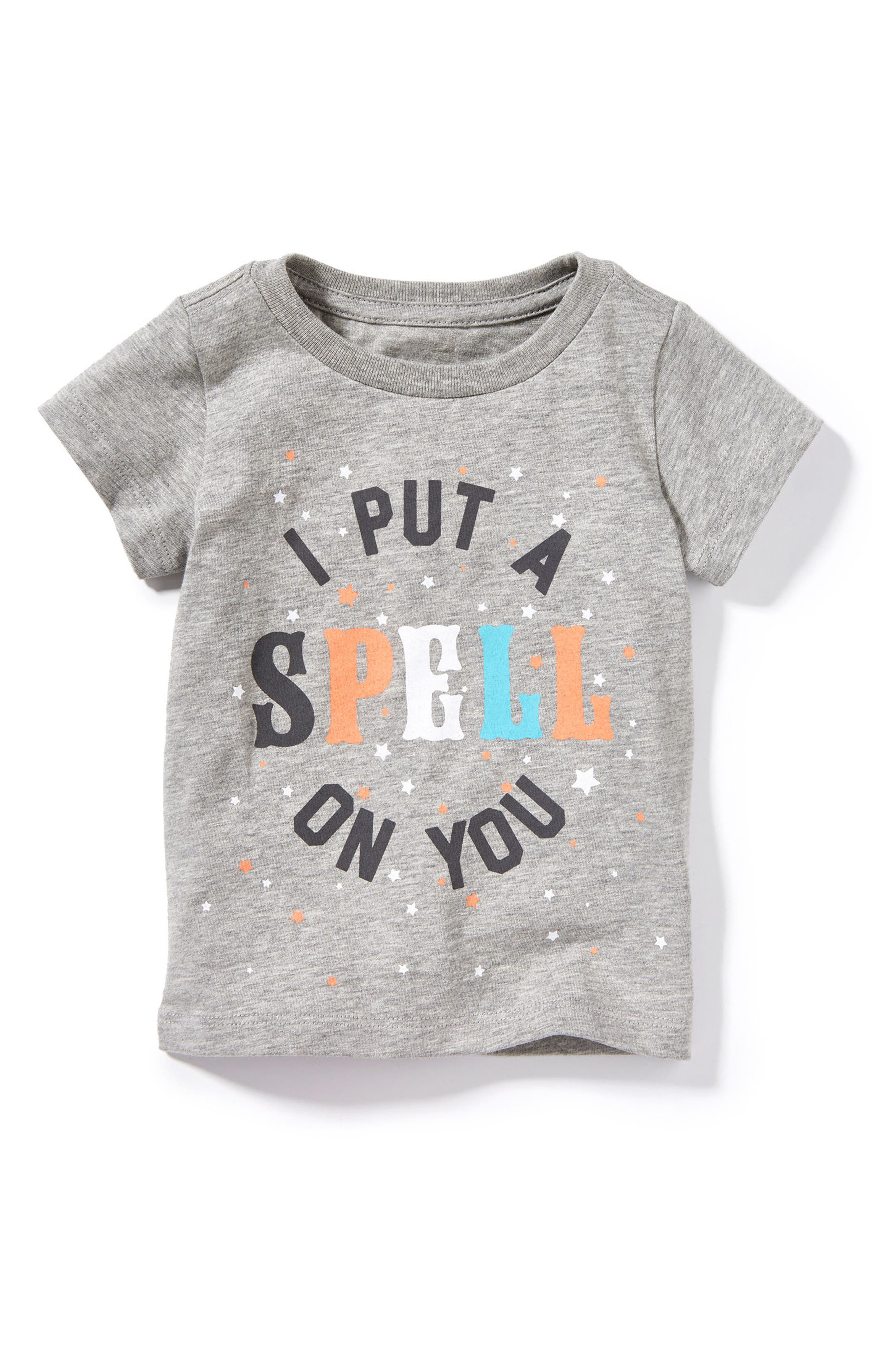 Peek I Put a Spell on You Graphic Tee,                         Main,                         color, Heather Grey