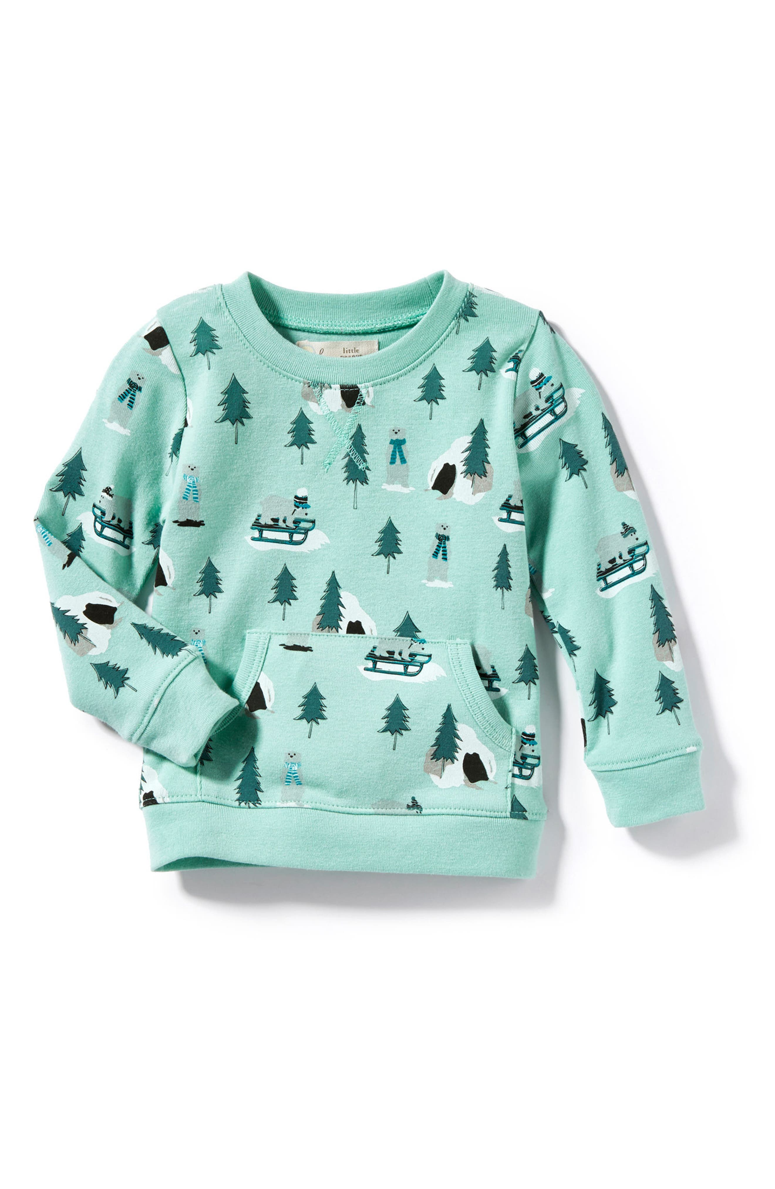 Peek Snow Bear Graphic Top,                         Main,                         color, Light Green