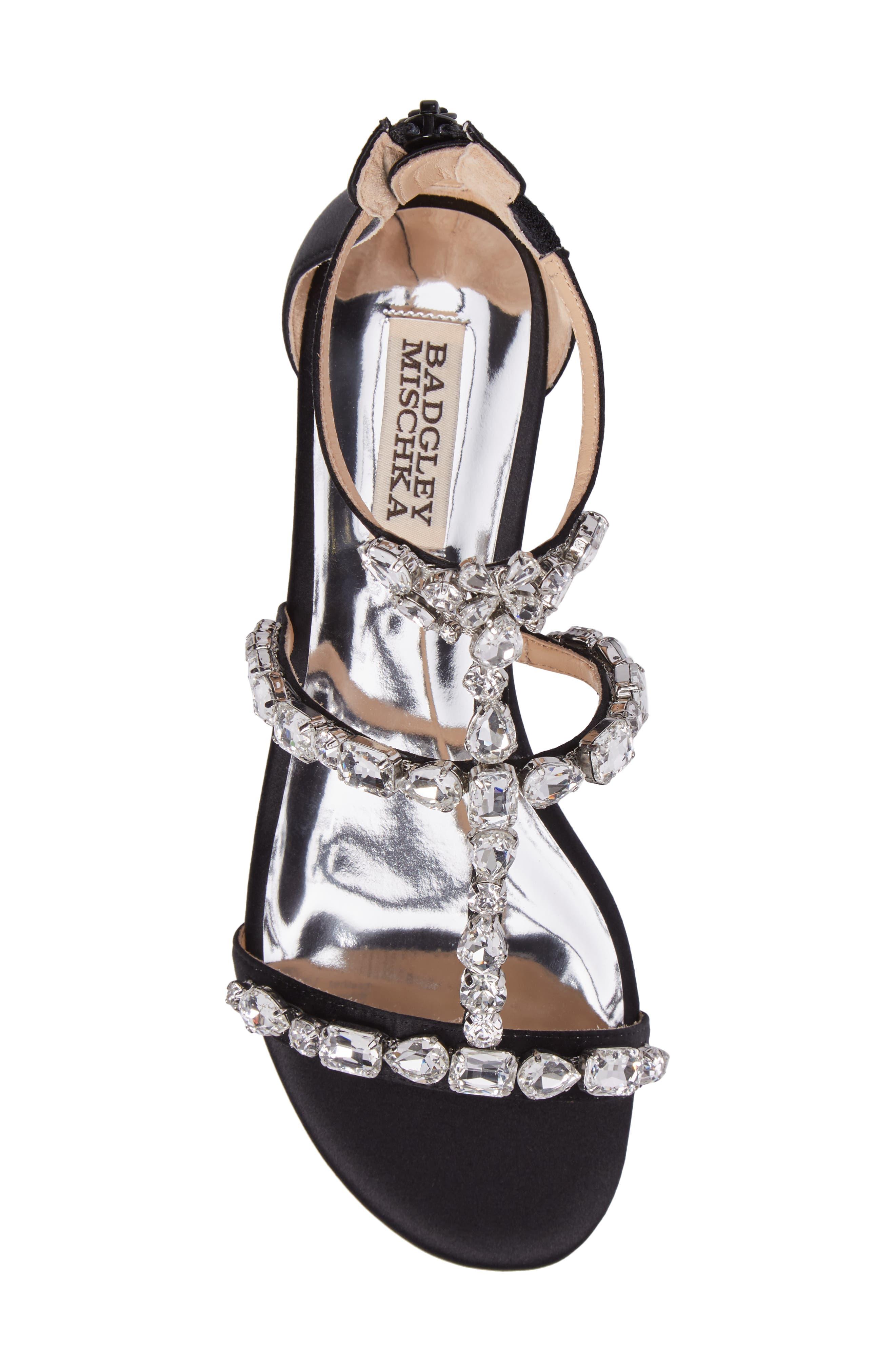 Alternate Image 5  - Badgley Mischka Warren Crystal Embellished Sandal (Women)