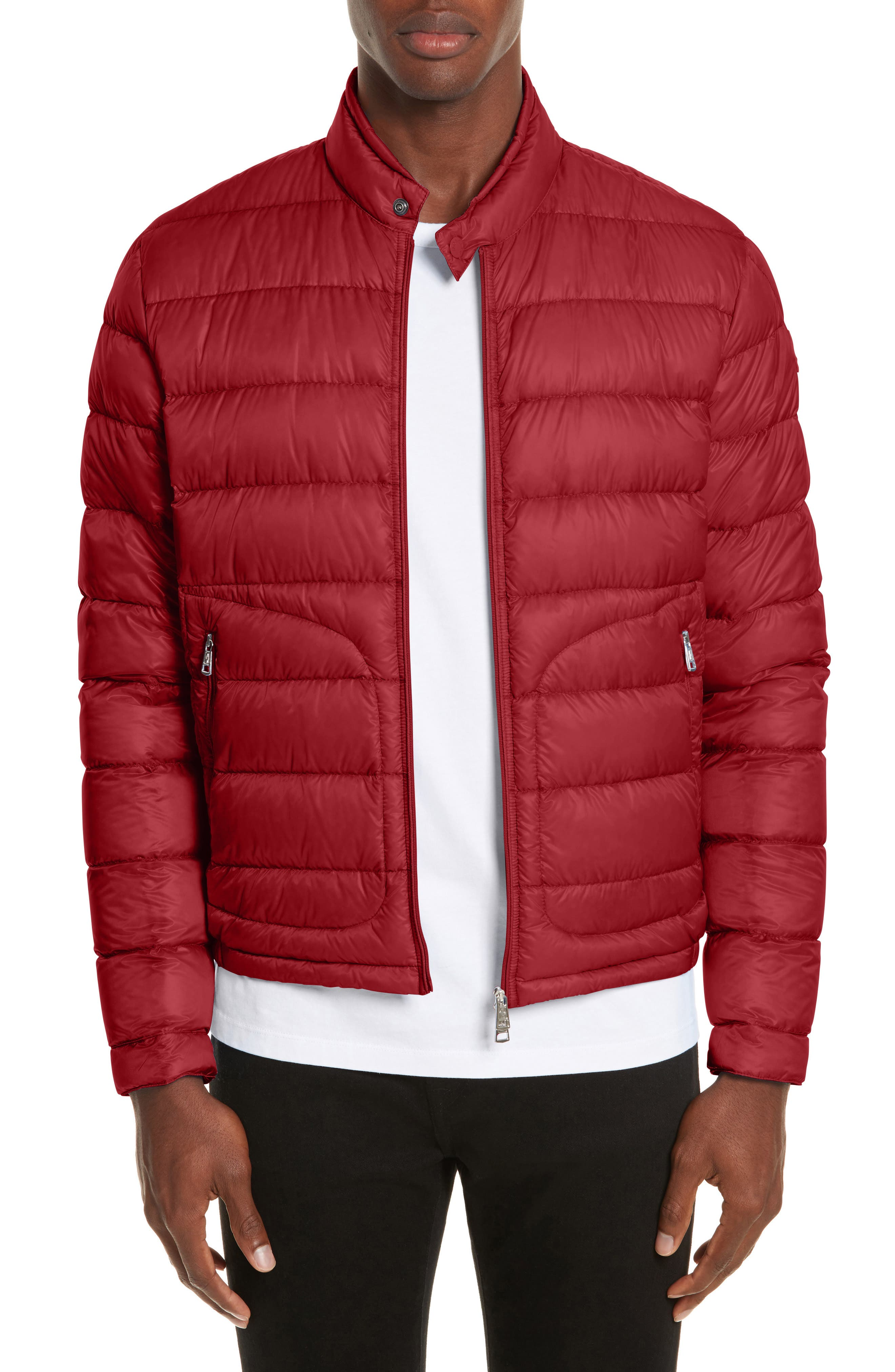 Acorus Down Quilted Jacket,                             Main thumbnail 1, color,                             Dark Red