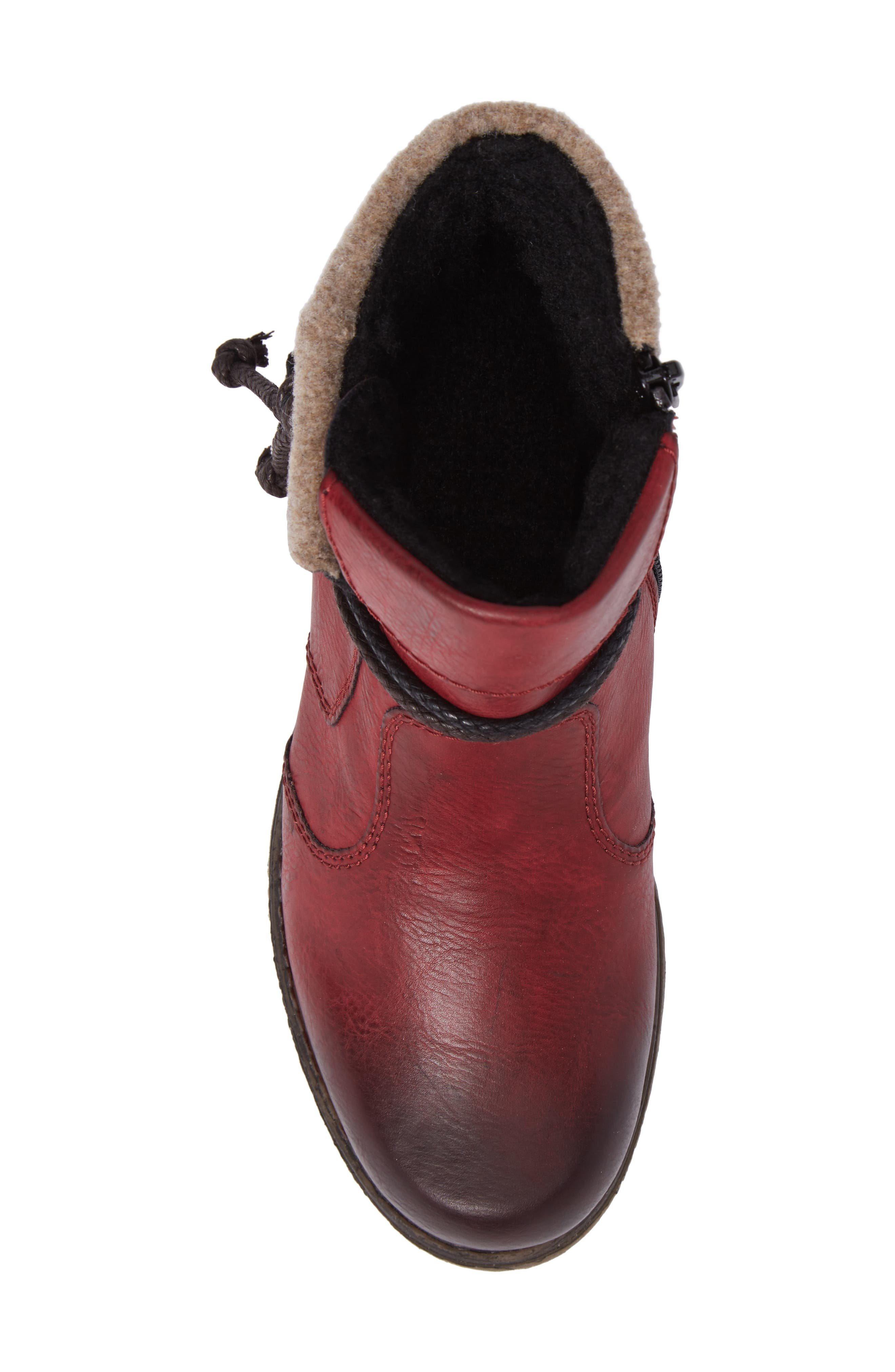 'Fee 93' Cuffed Shaft Bootie,                             Alternate thumbnail 5, color,                             Wine Faux Leather
