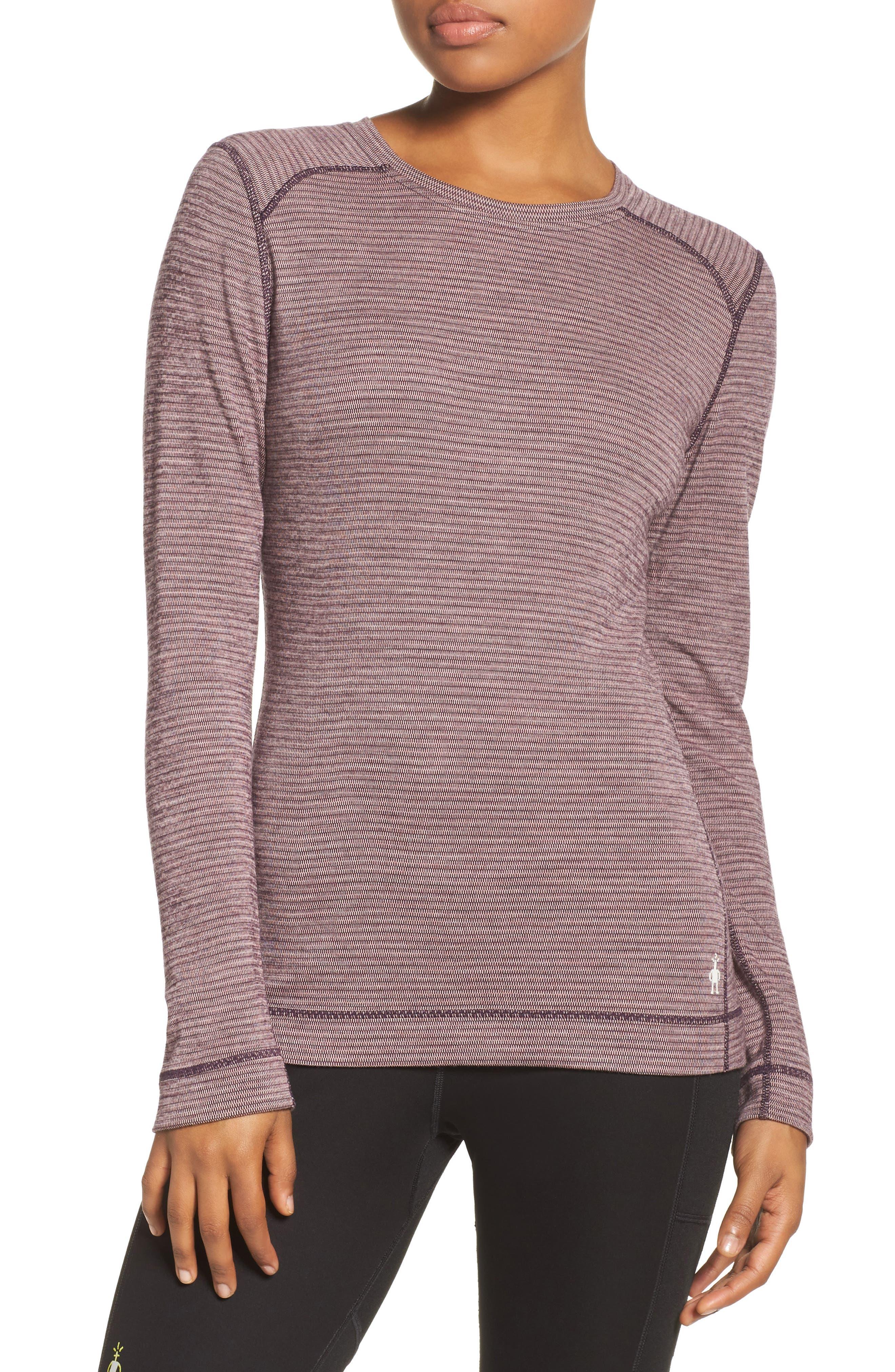Merino Wool 250 Base Layer Top,                             Main thumbnail 1, color,                             Bordeaux