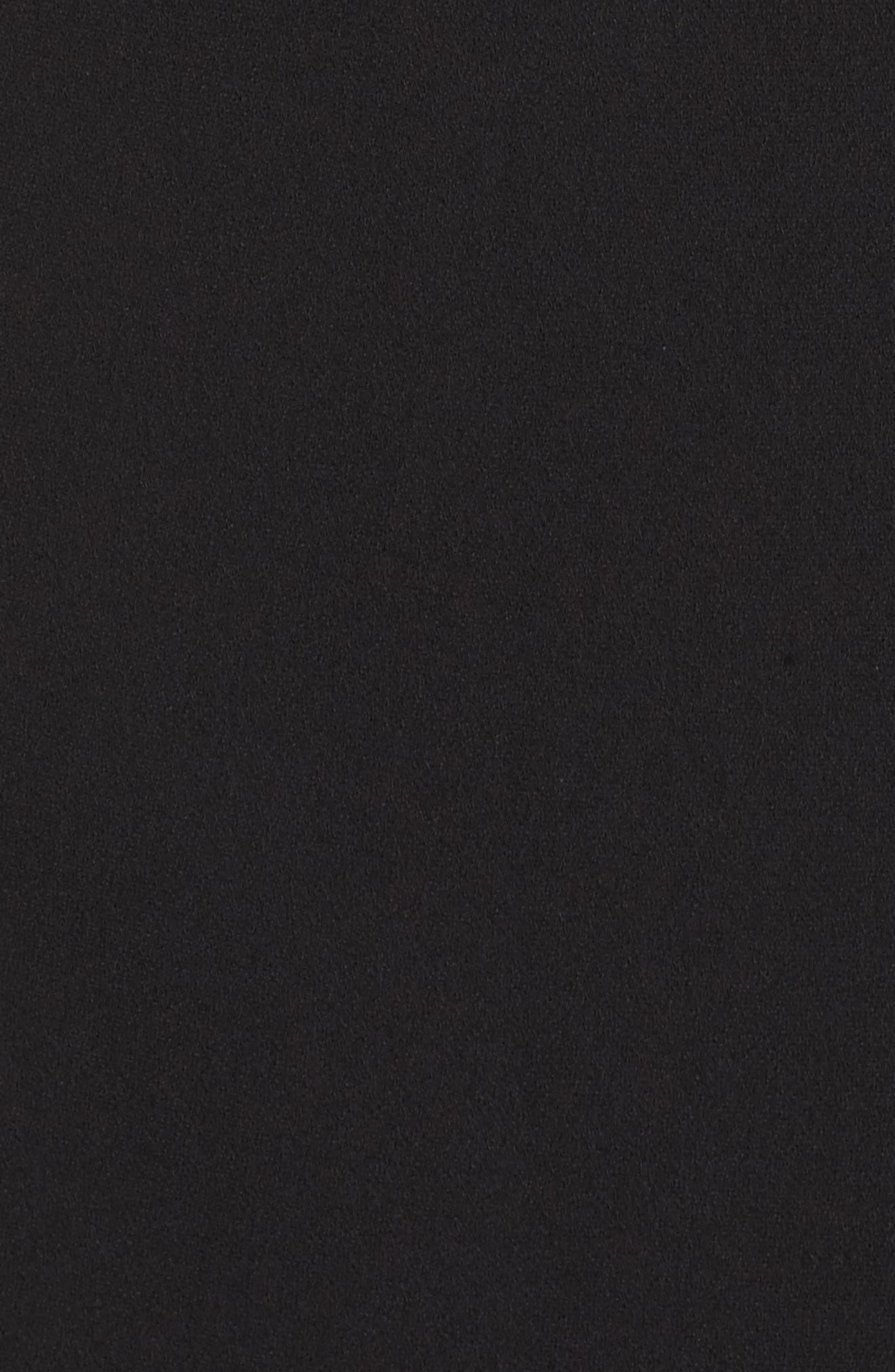 Alternate Image 5  - Adrianna Papell Tuxedo Cold Shoulder Sheath Dress