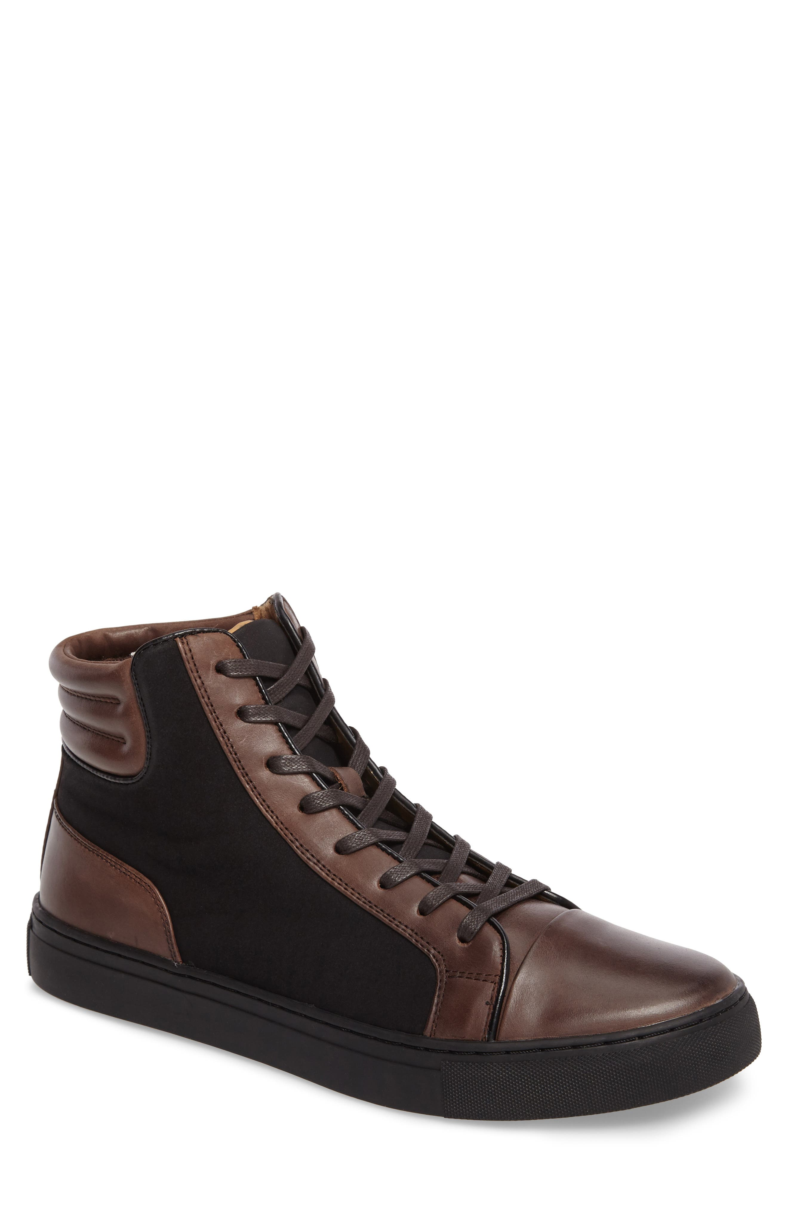 Kenneth Cole Reaction Sneaker,                         Main,                         color, Brown/ Black
