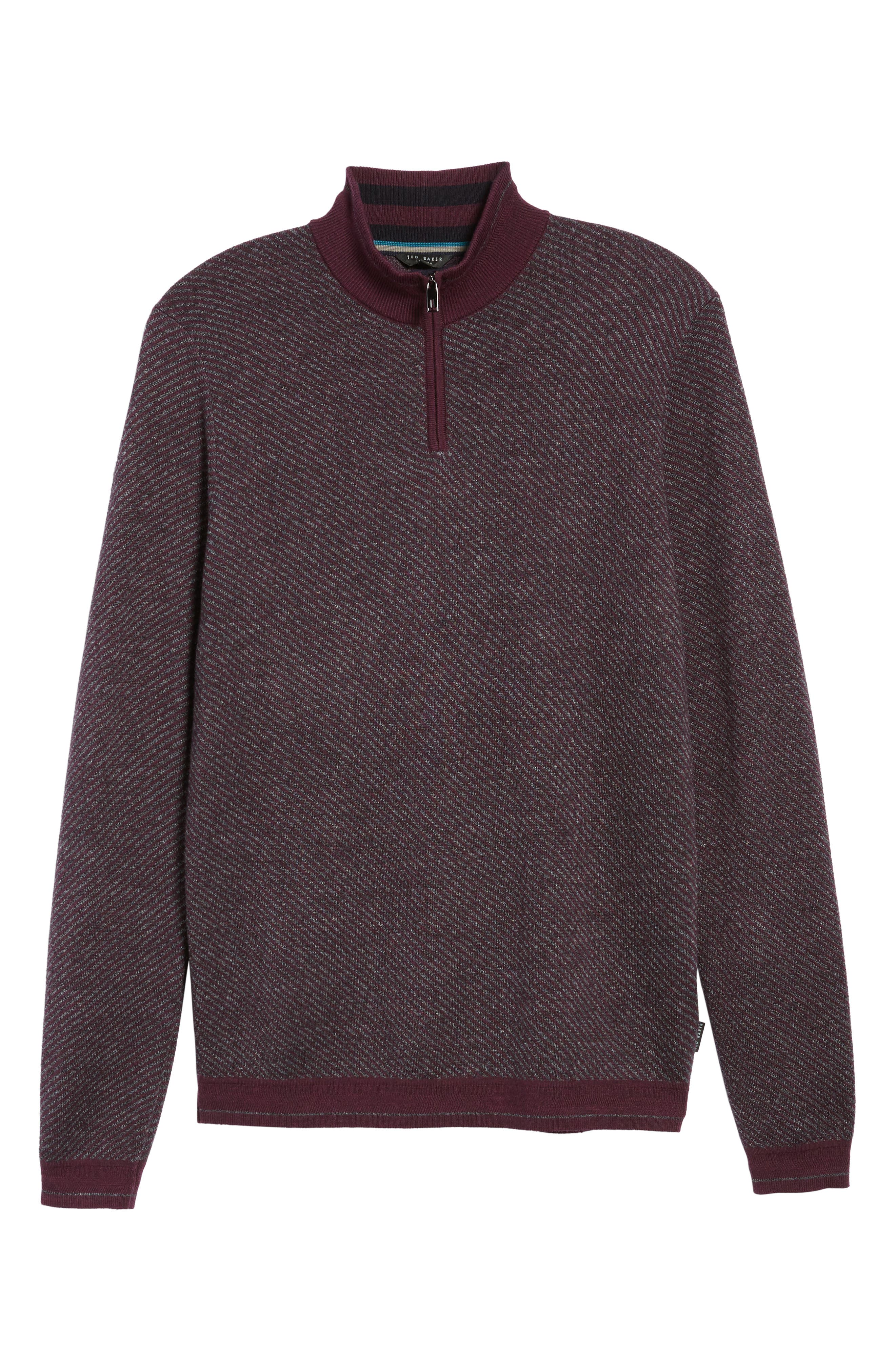 Alternate Image 6  - Ted Baker London Stripe Quarter Zip Sweater