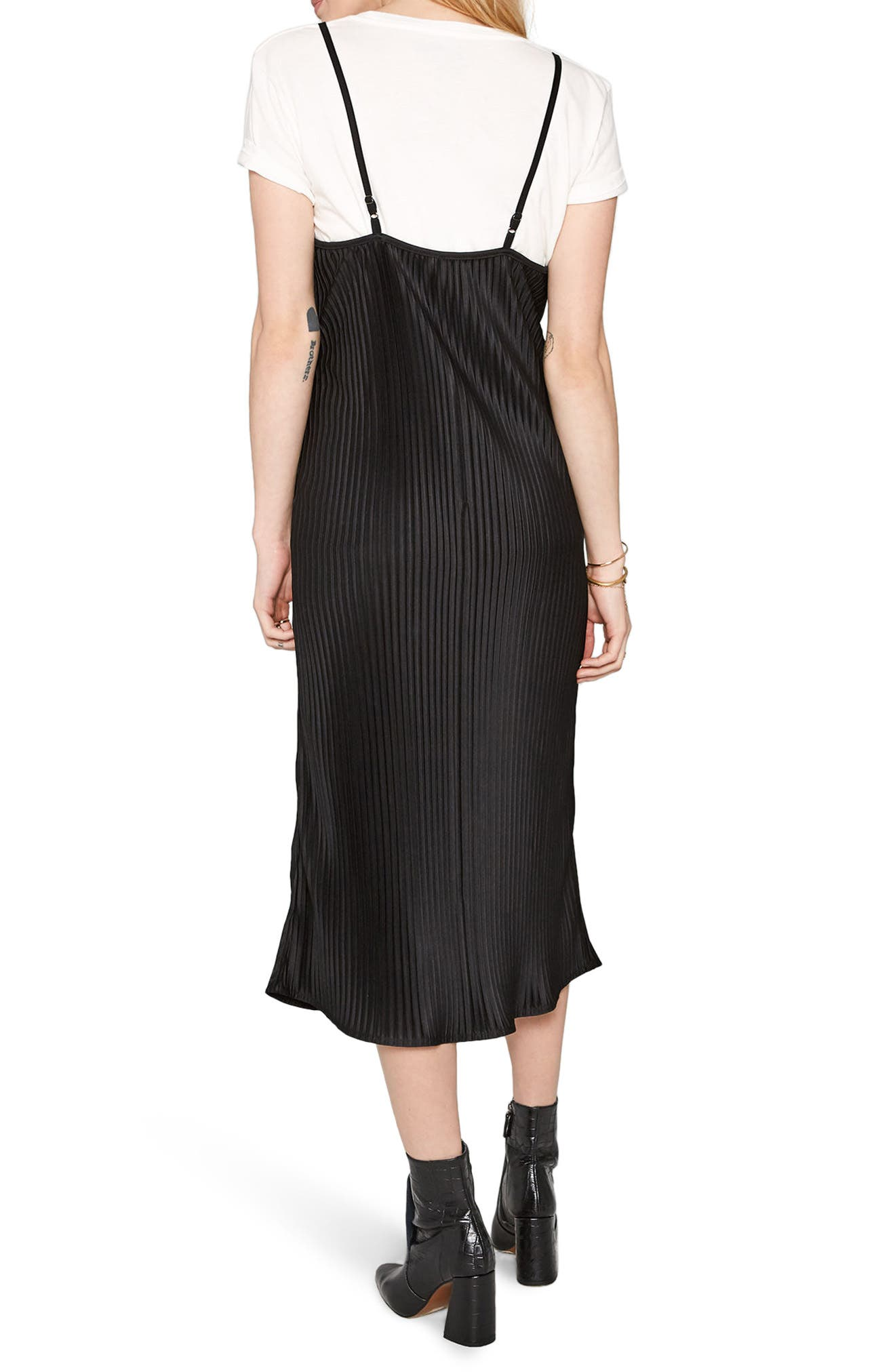 Sweet Surrender Slipdress,                             Alternate thumbnail 2, color,                             Black