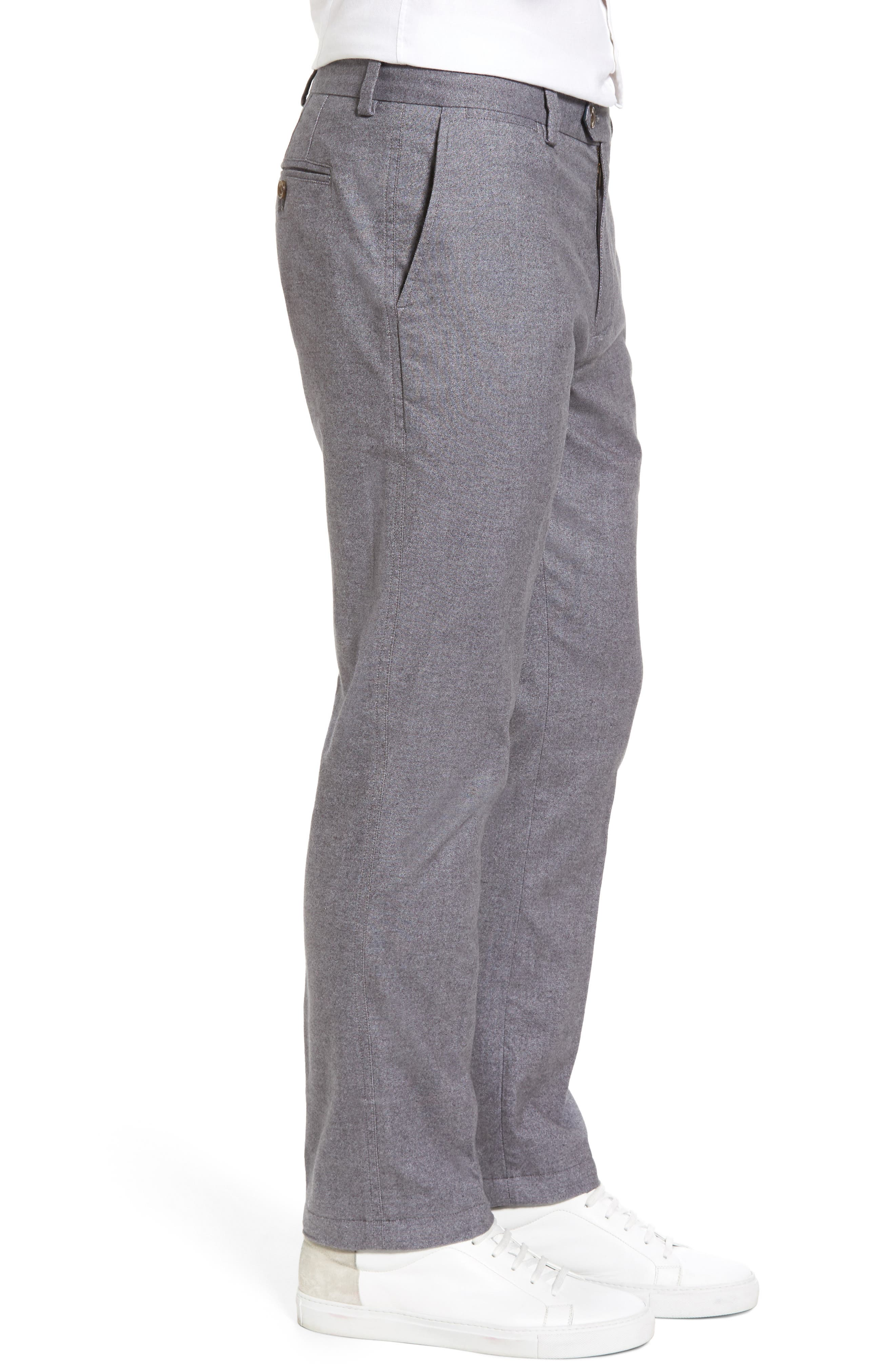 Straight Fit Oxford Burgee Pants,                             Alternate thumbnail 3, color,                             Charcoal