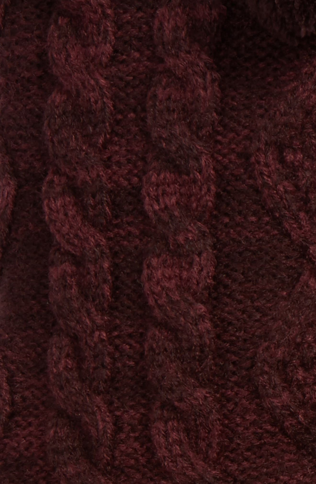 Fleece Lined Socks,                             Alternate thumbnail 2, color,                             Port